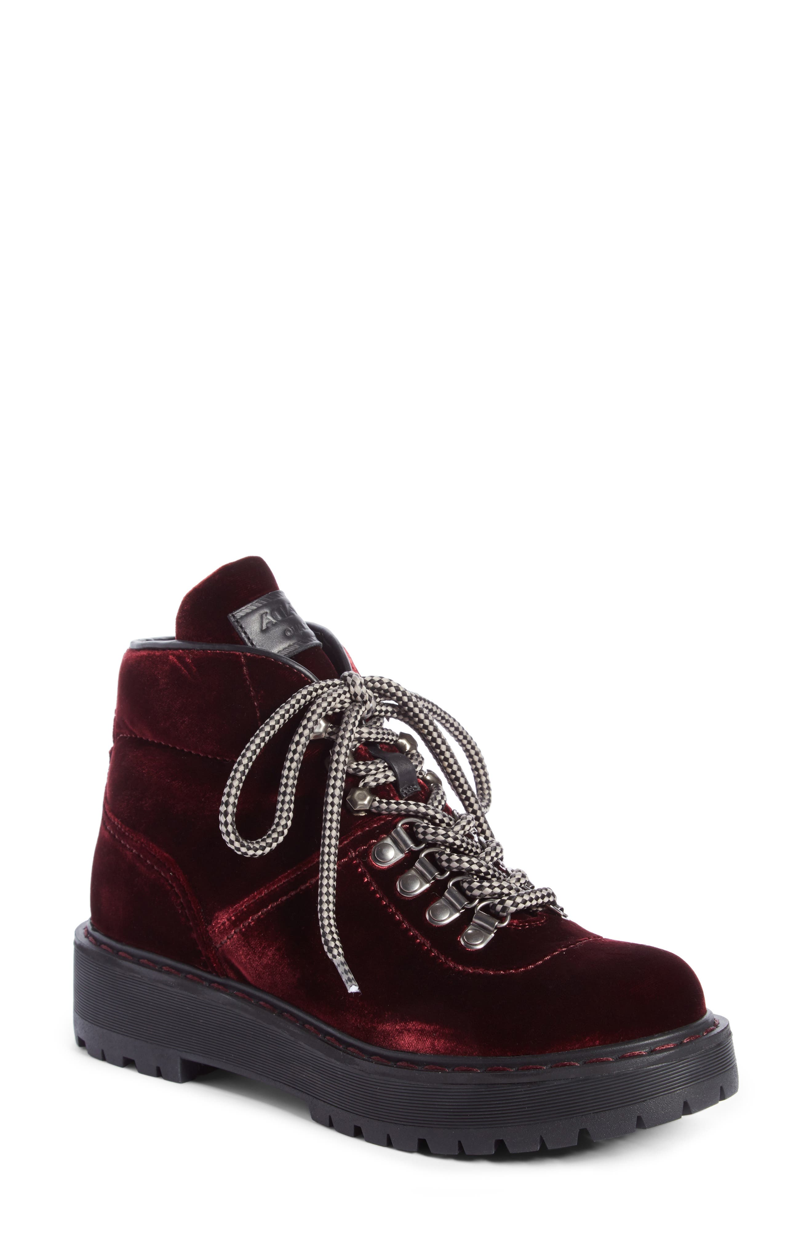 Prada Linea Rossa Lace-Up Bootie (Women)