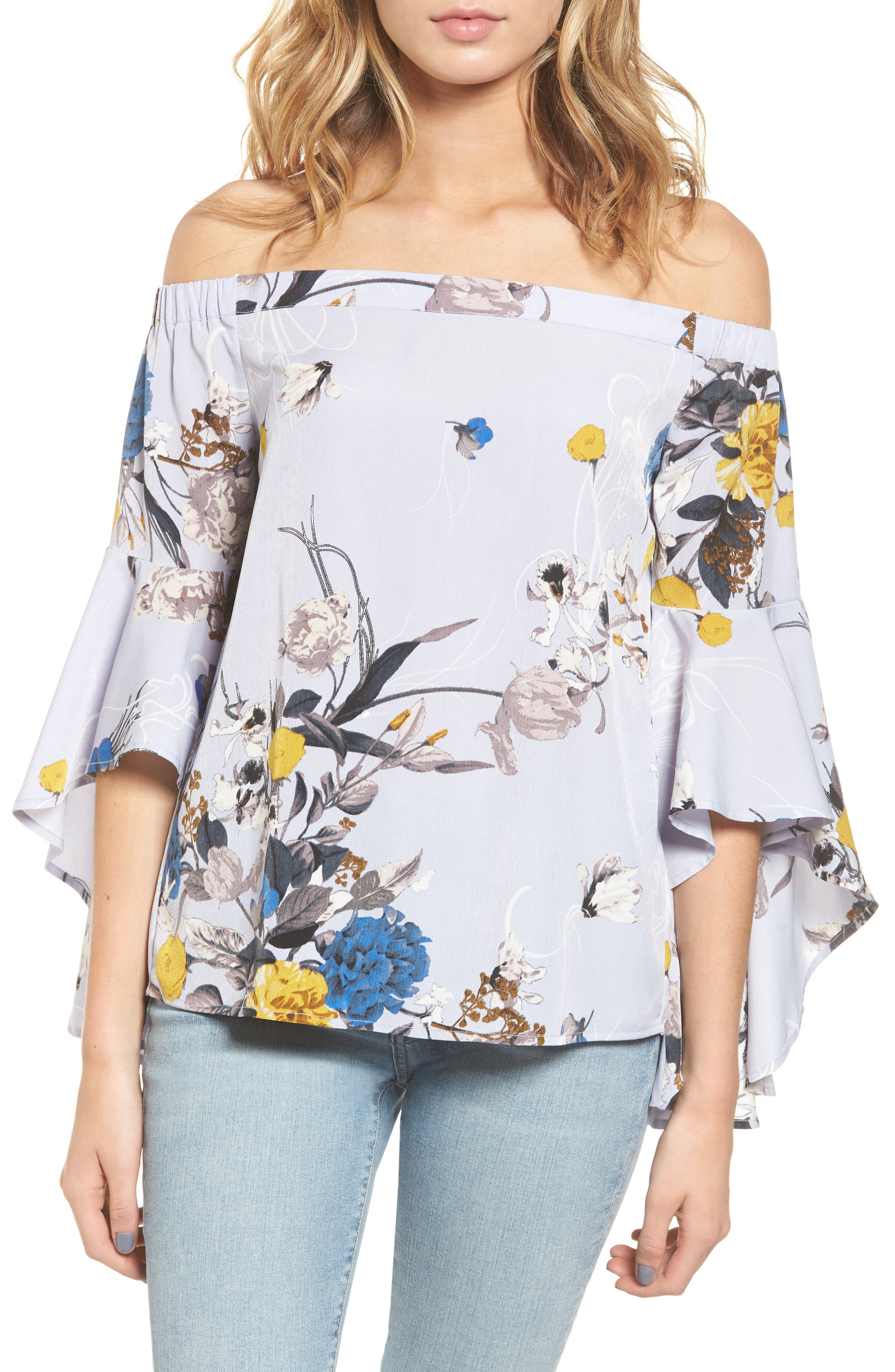 Main Image - Chelsea28 Bell Sleeve Off the Shoulder Top