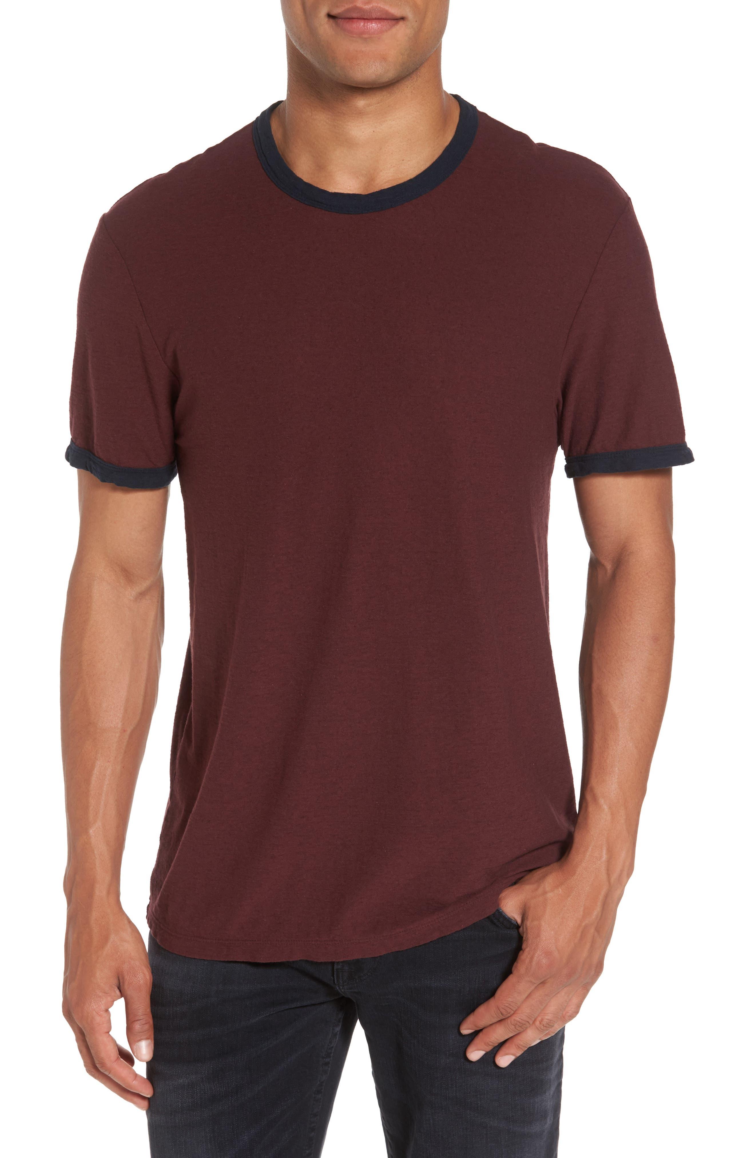 James Perse Slub Knit Ringer T-Shirt