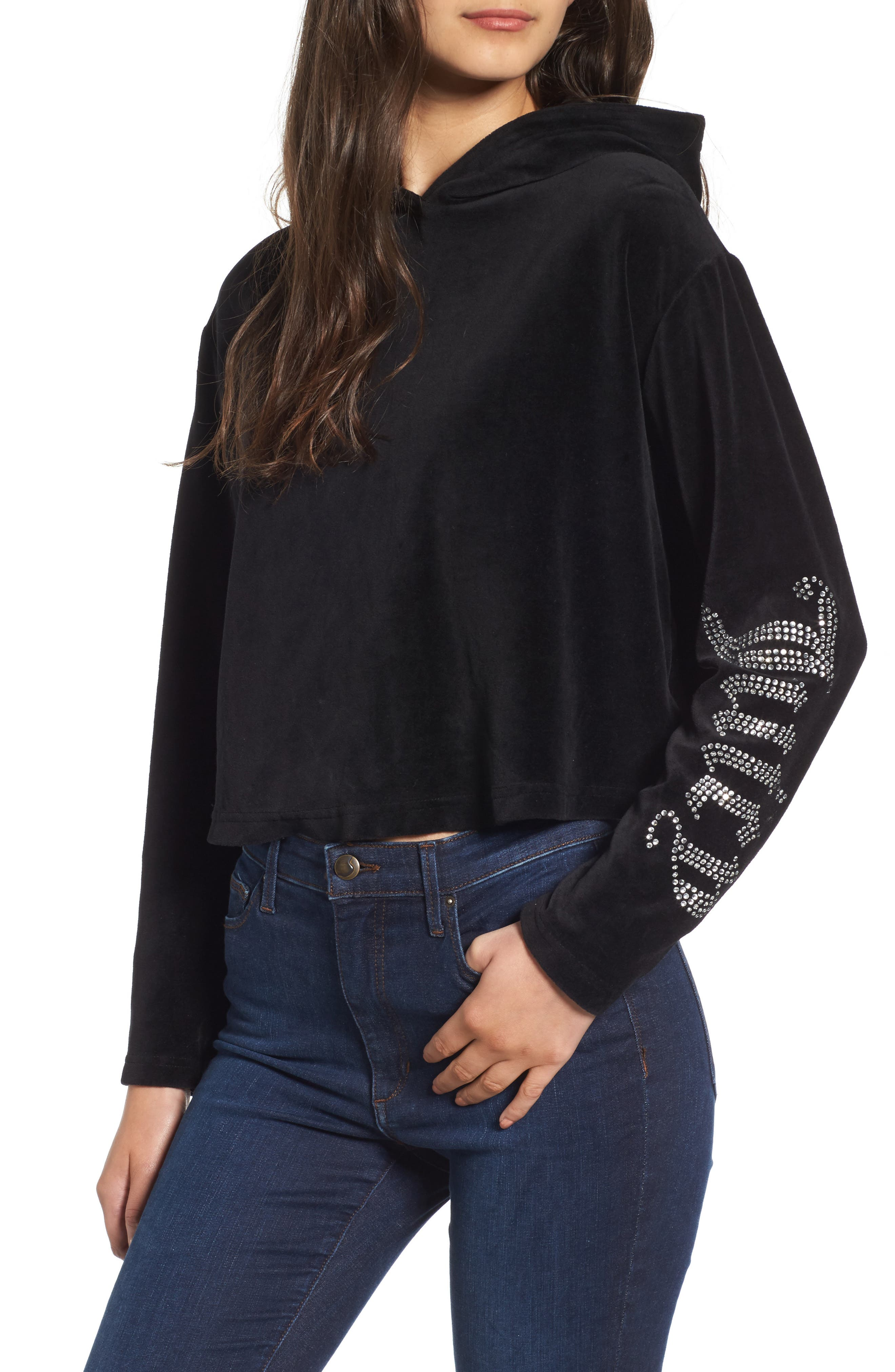 Juicy Couture Gothic Logo Velour Hoodie