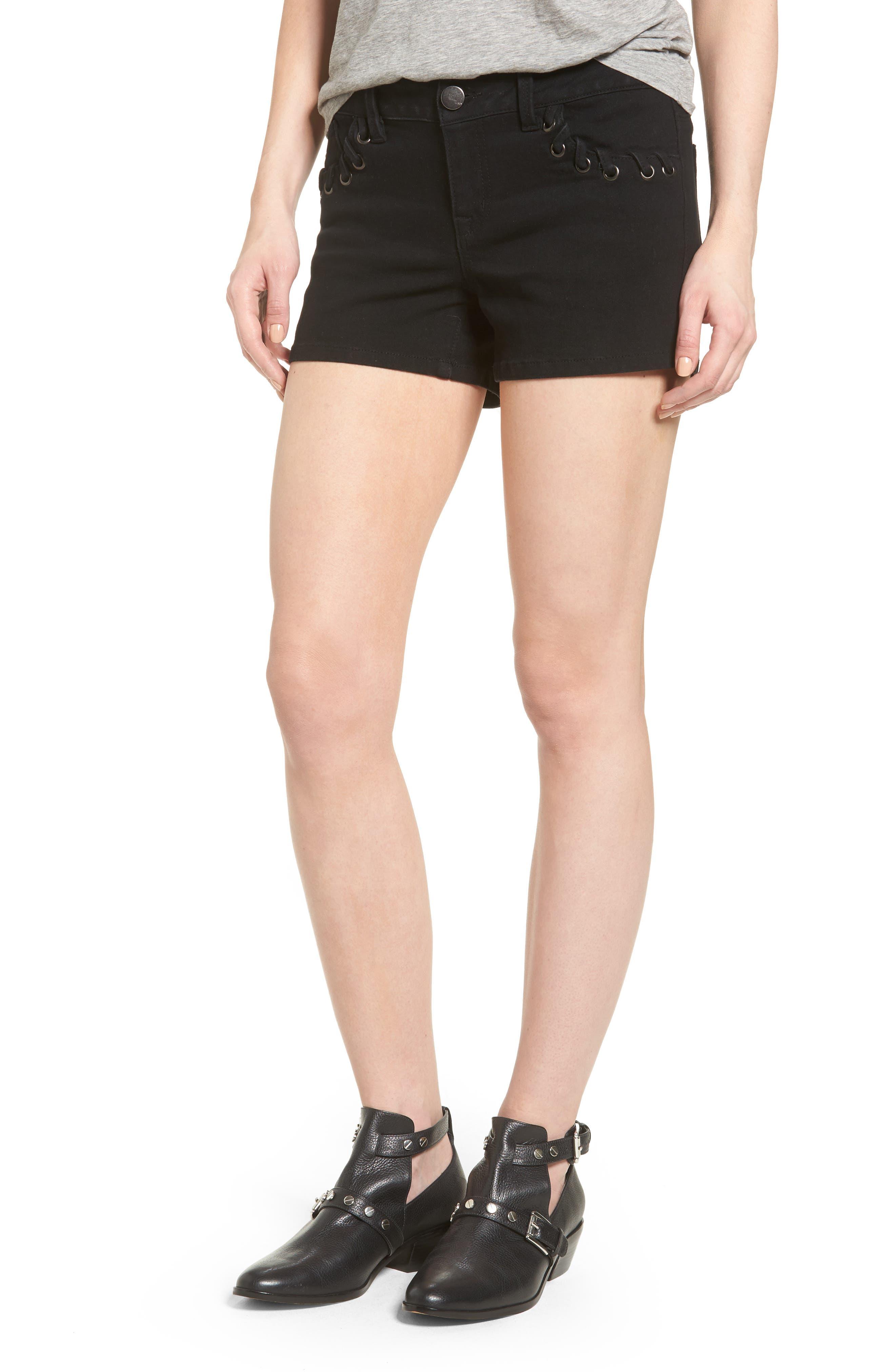 1822 Denim Lace-Up Denim Shorts