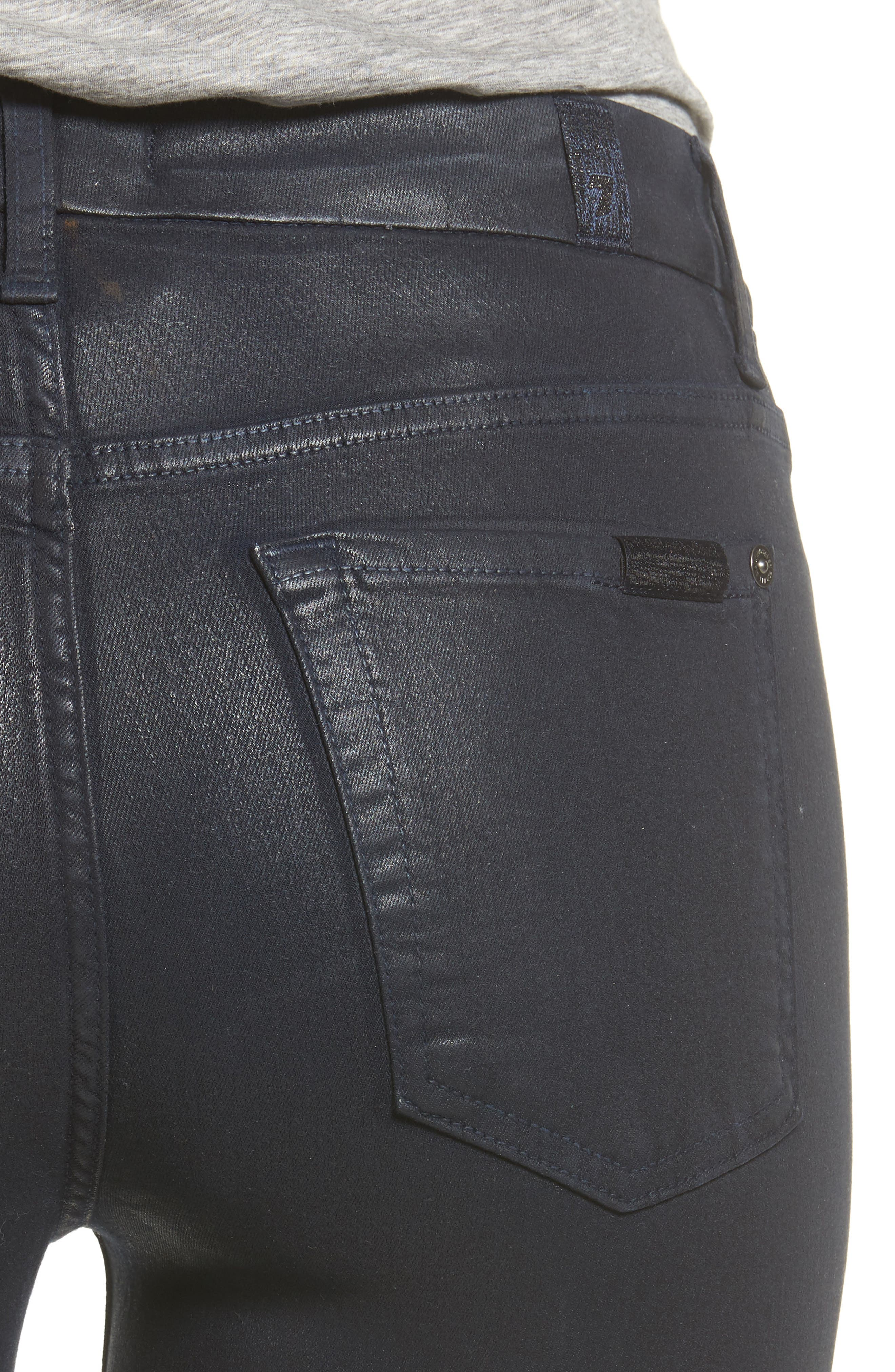 Alternate Image 4  - 7 For All Mankind® Coated Ankle Skinny Jeans