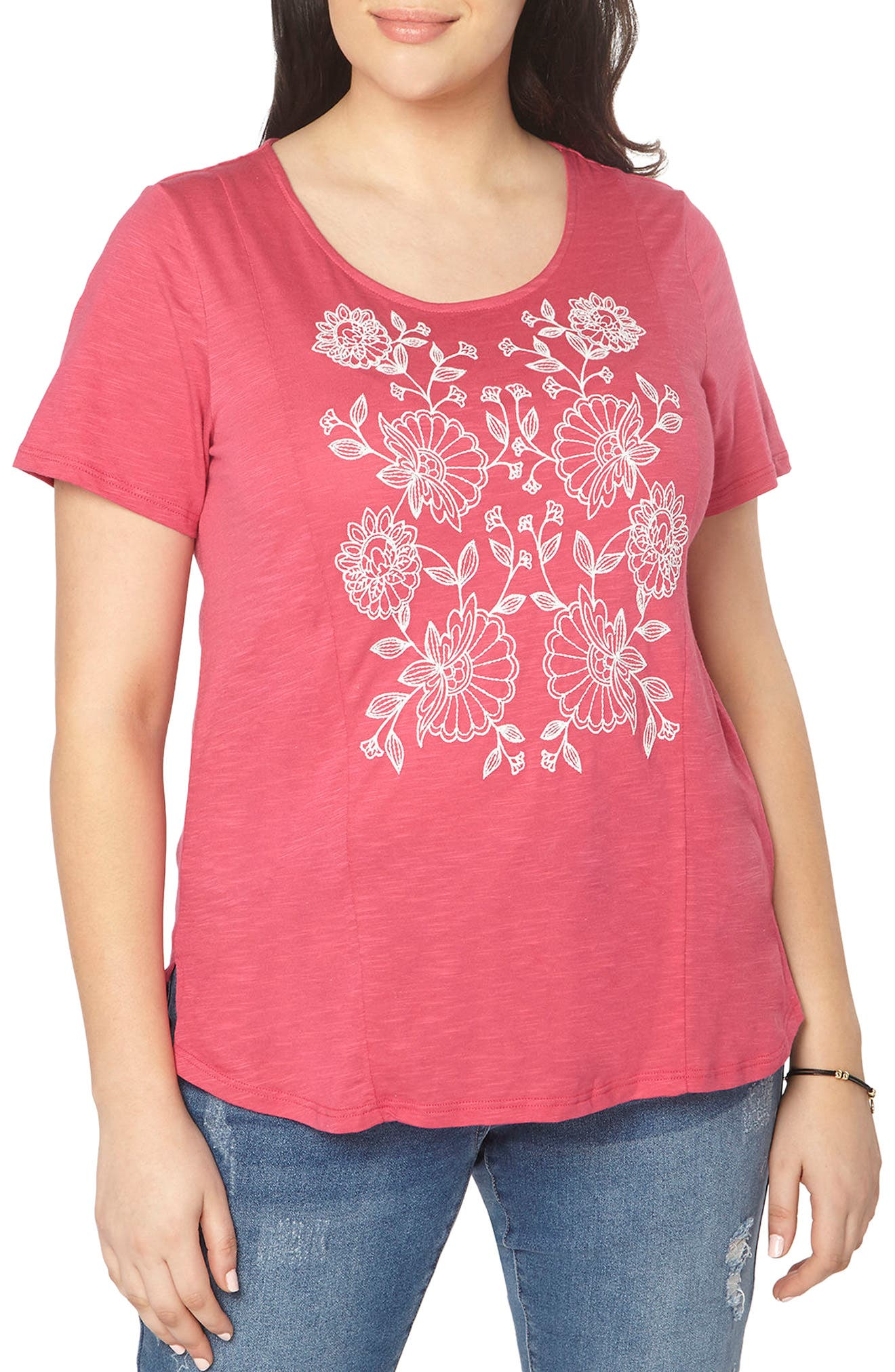 Evans Embroidered Tee (Plus Size)