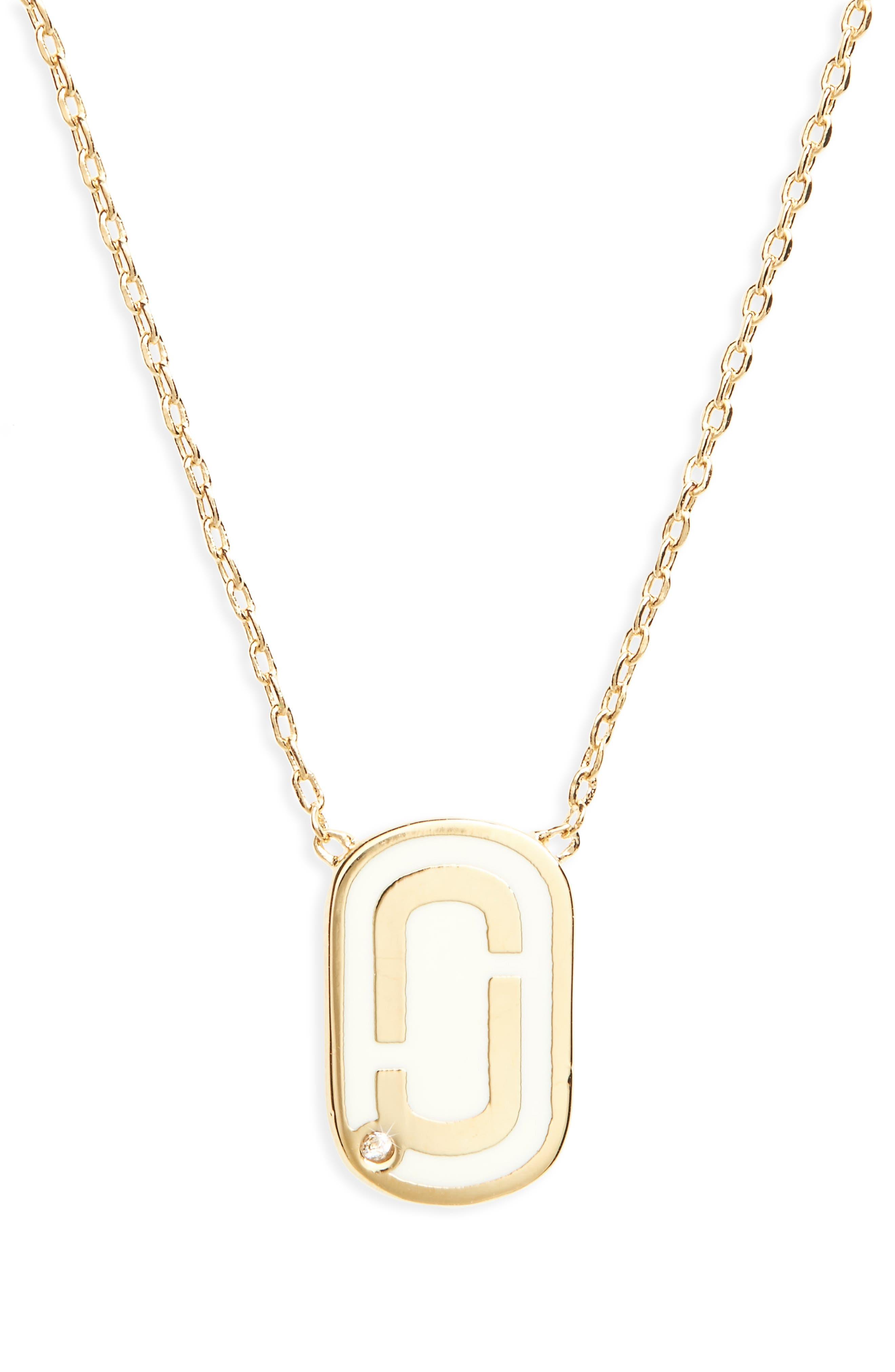 MARC JACOBS Icon Enamel Pendant Necklace