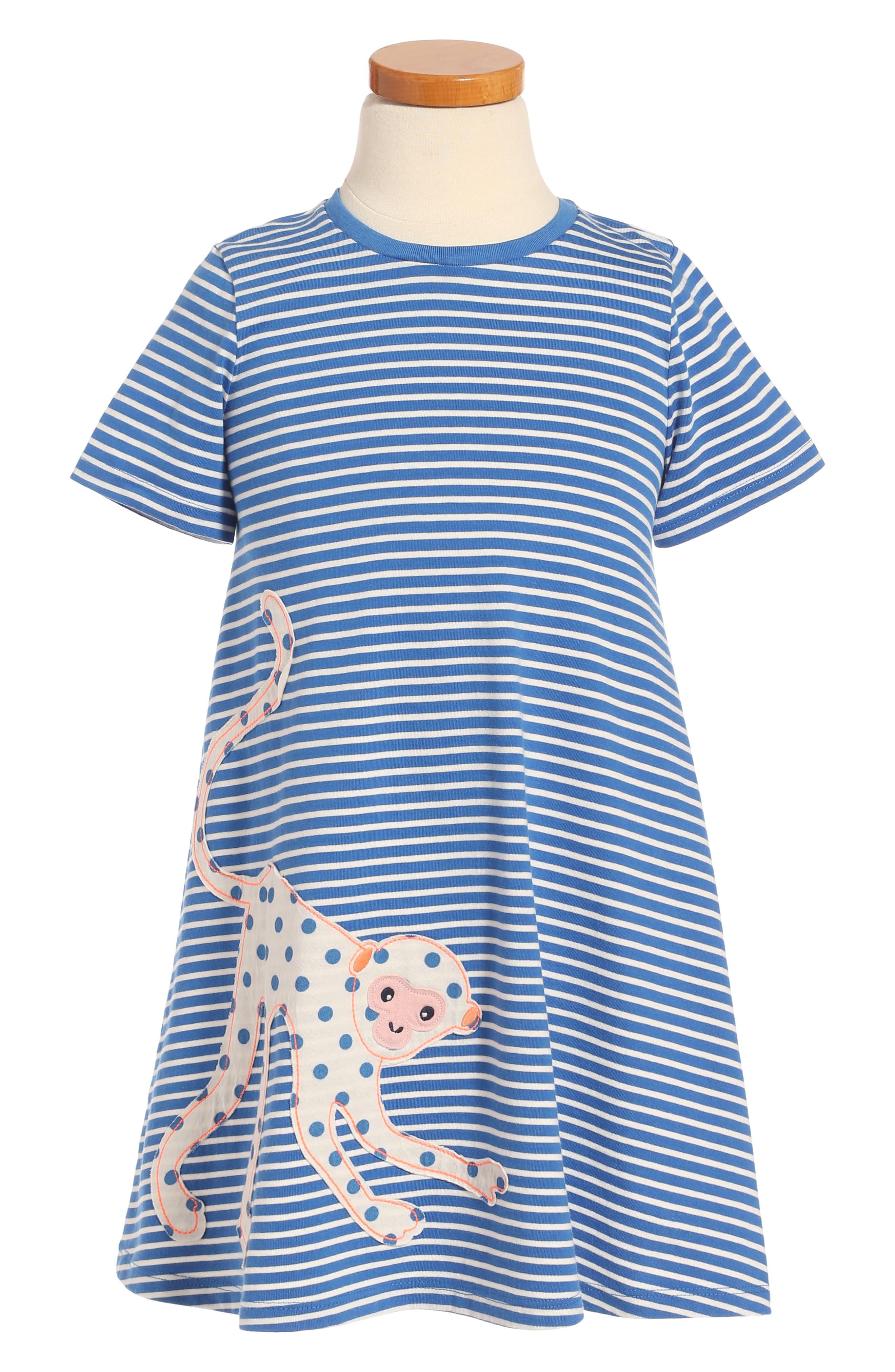 Mini Boden Jungle Appliqué T-Shirt Dress (Toddler Girls, Little Girls & Big Girls)