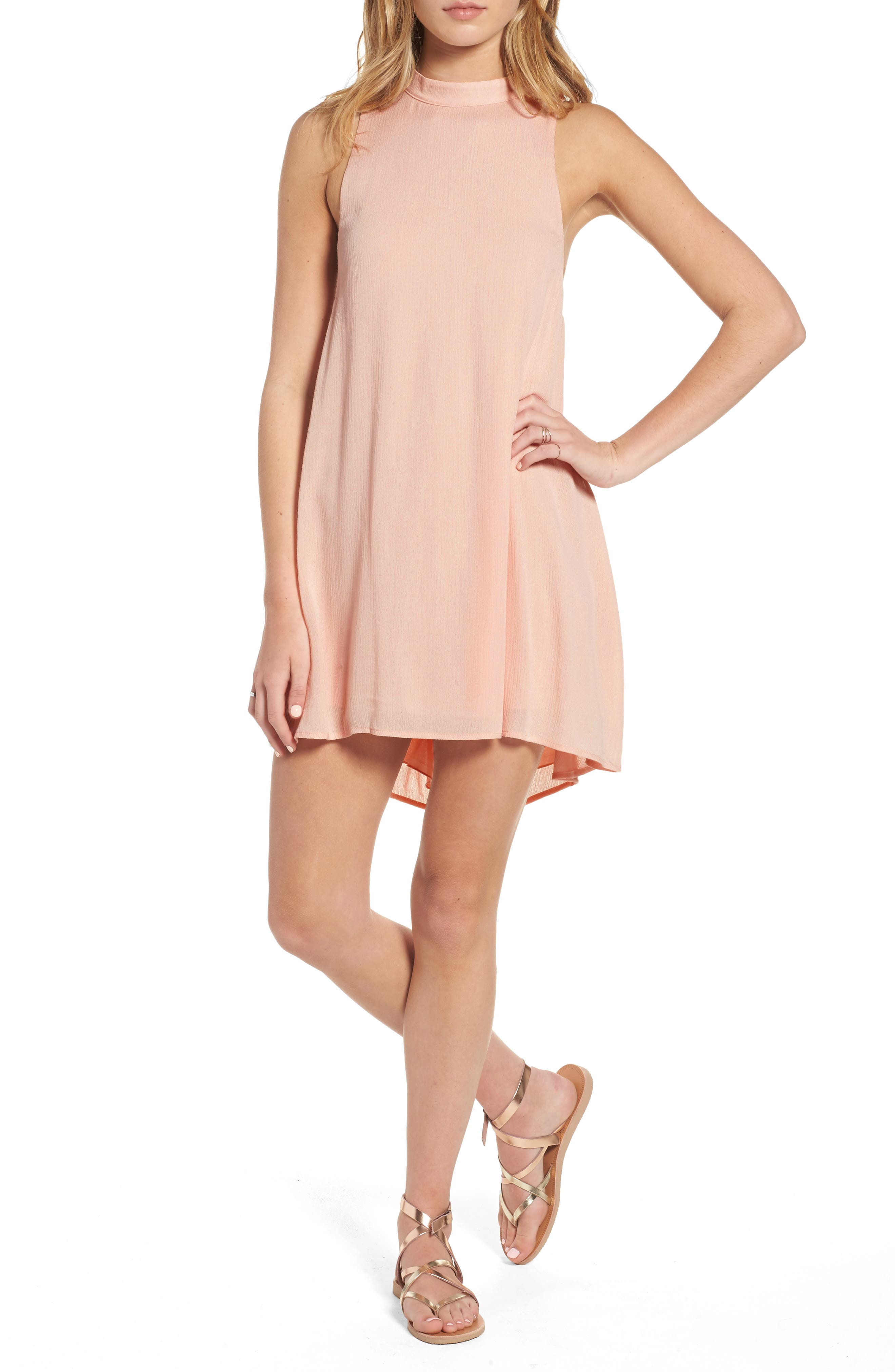 Dee Elly Crinkled Gauze Shift Dress