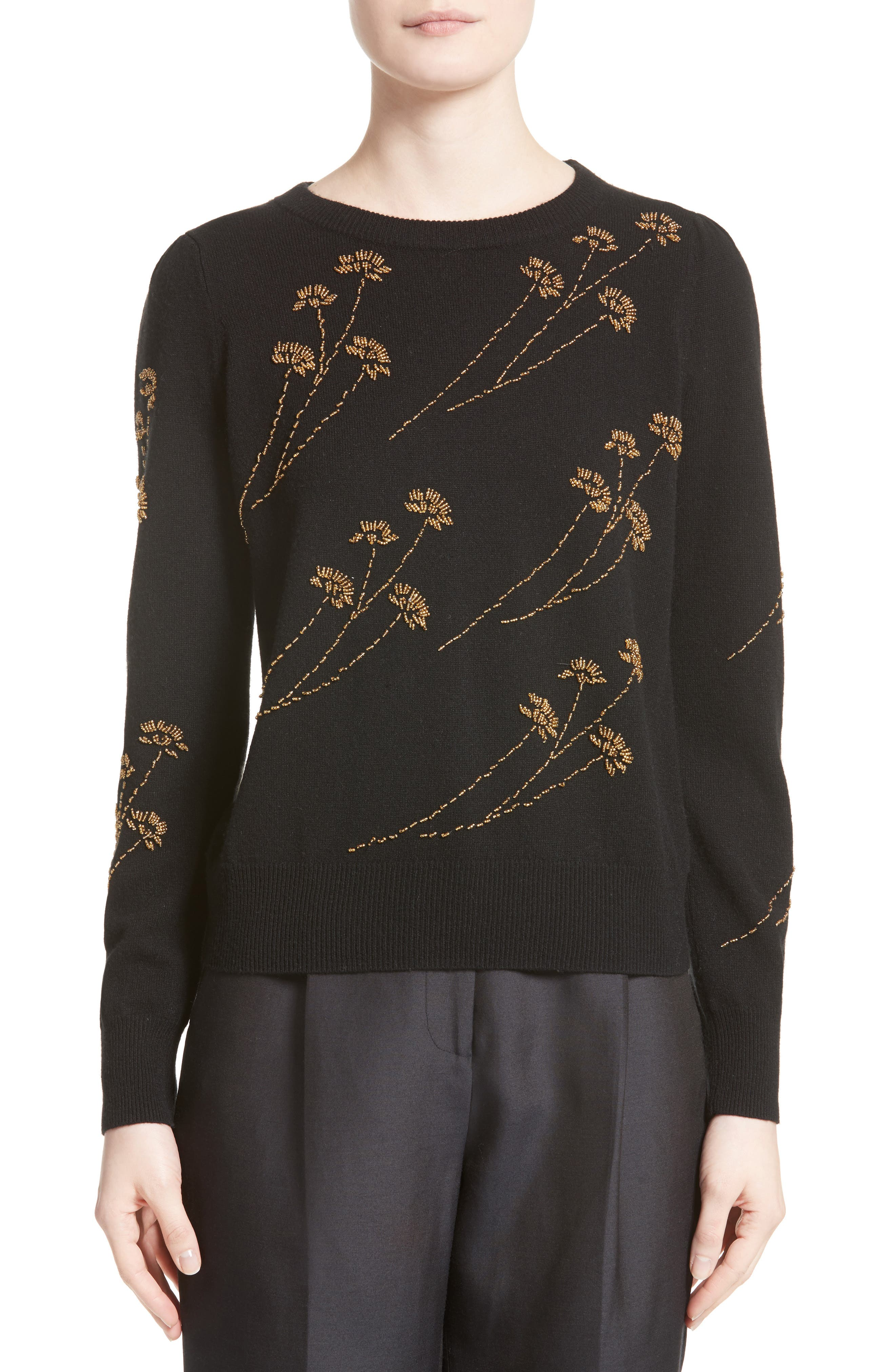 Co Beaded Wool & Cashmere Sweater