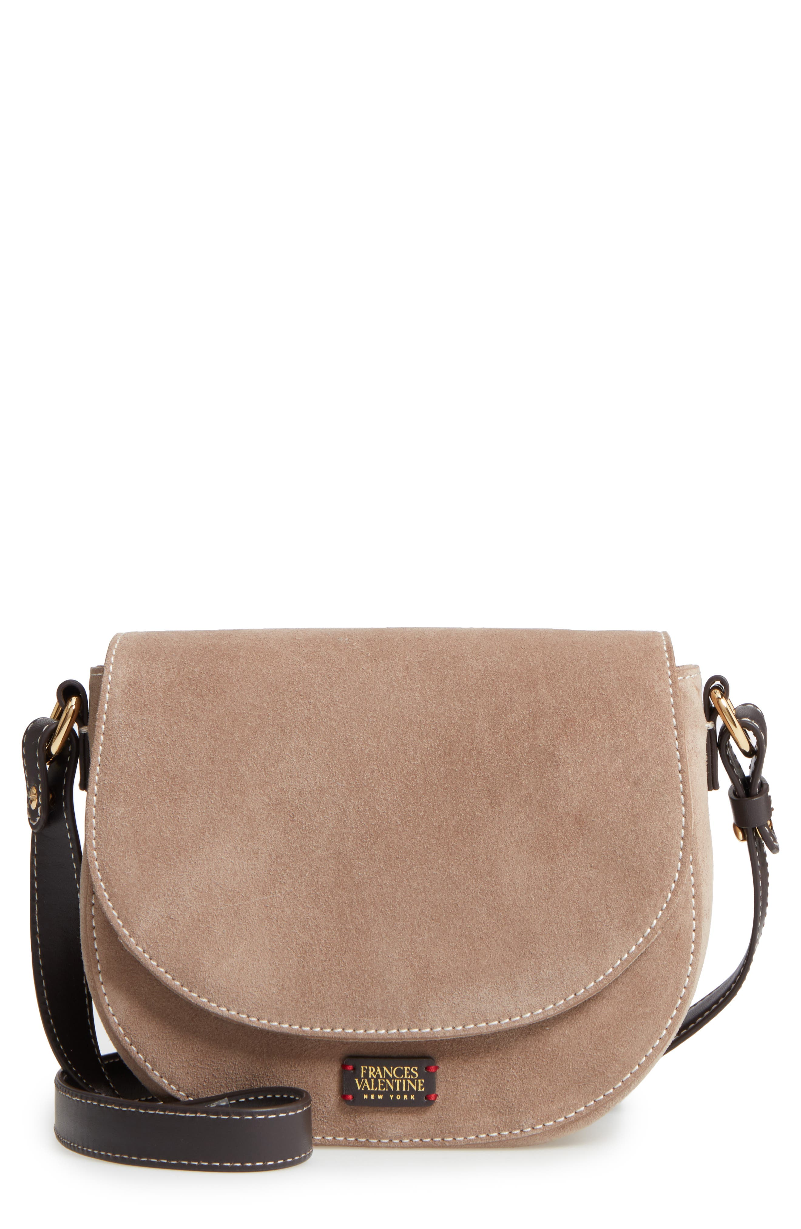 Frances Valentine Mini Ellen Suede Crossbody Bag
