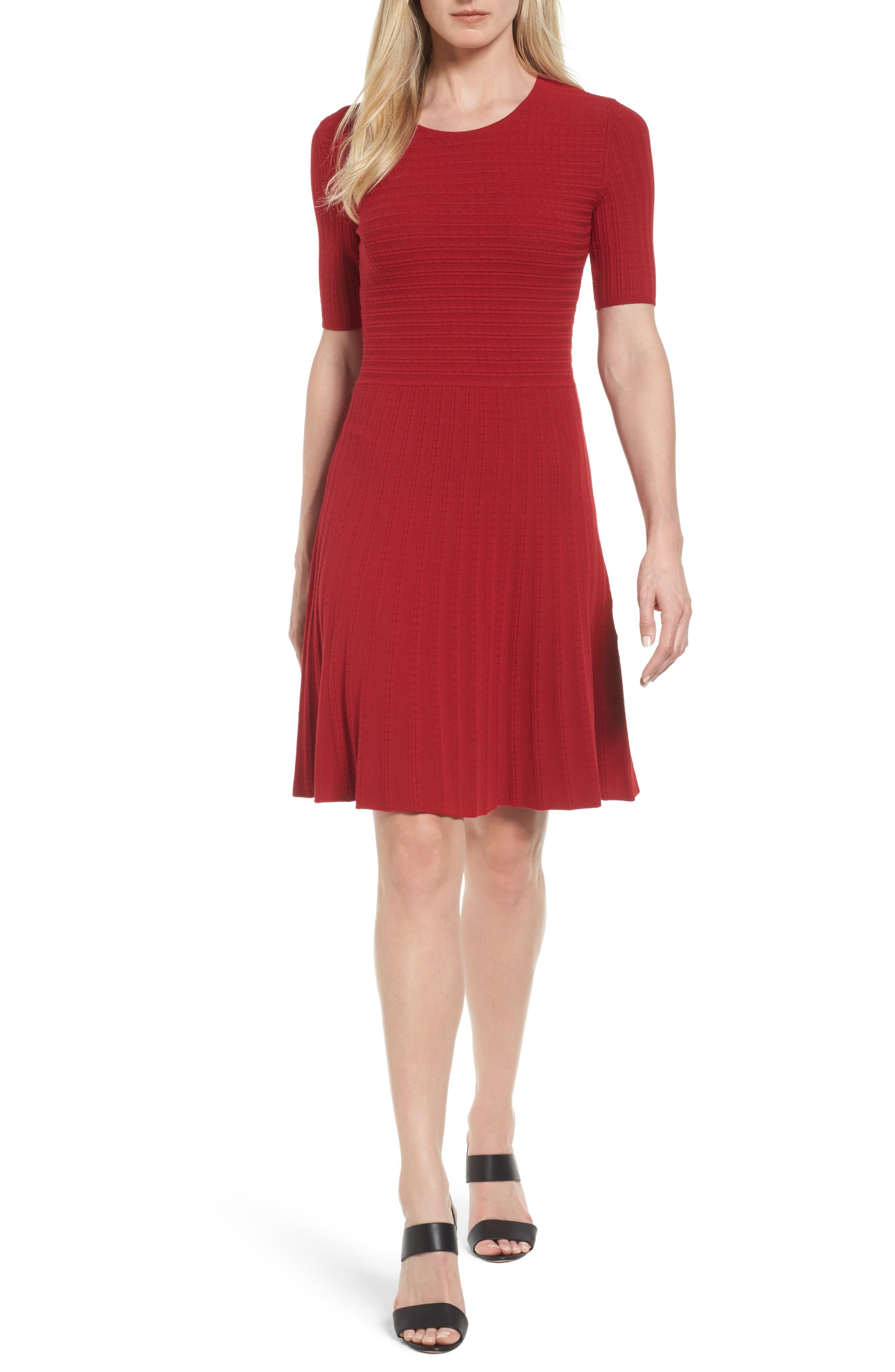 BOSS Frida Knit A-Line Dress
