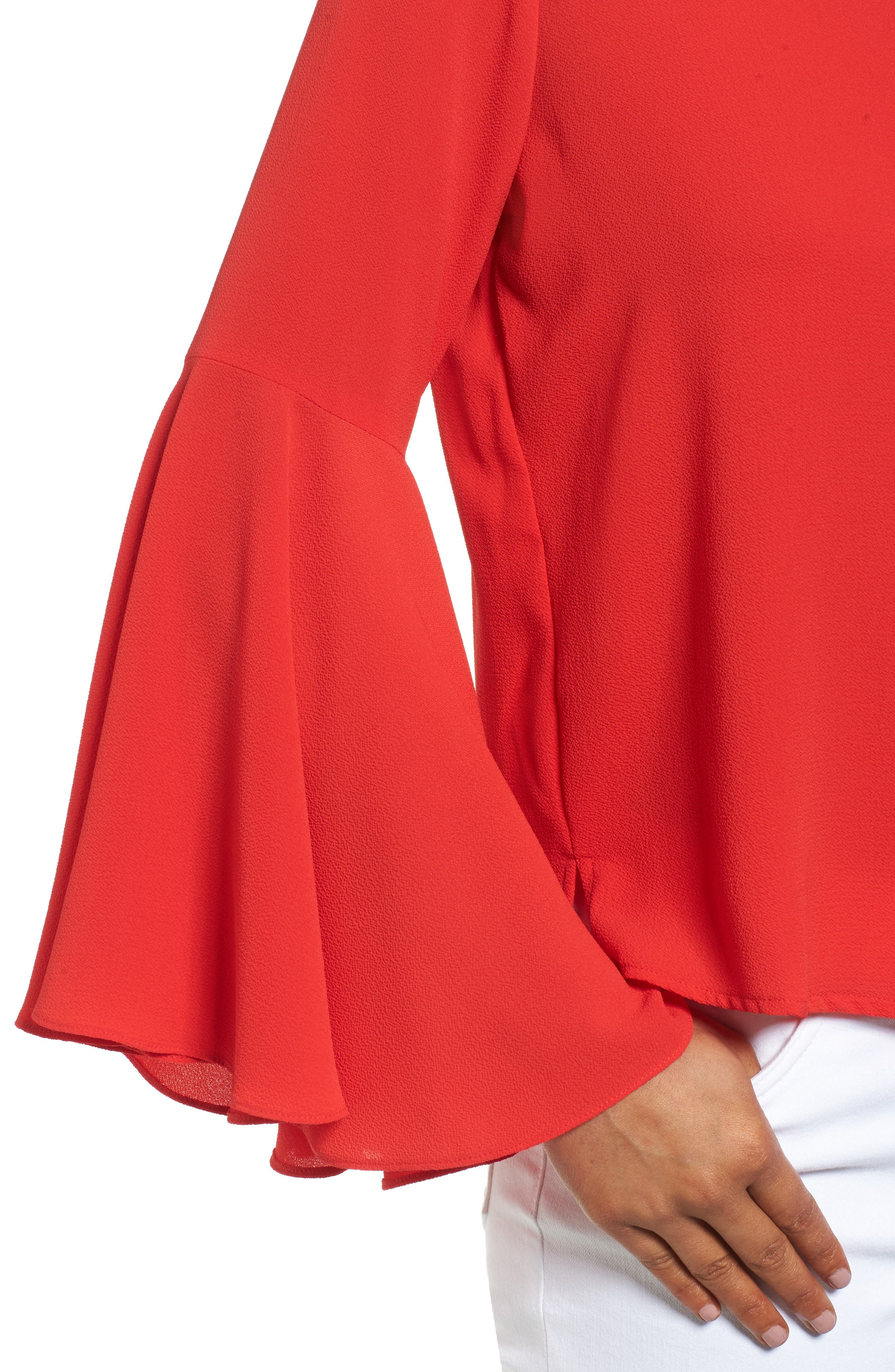 Alternate Image 4  - Vince Camuto Bell Sleeve Blouse (Regular & Petite)
