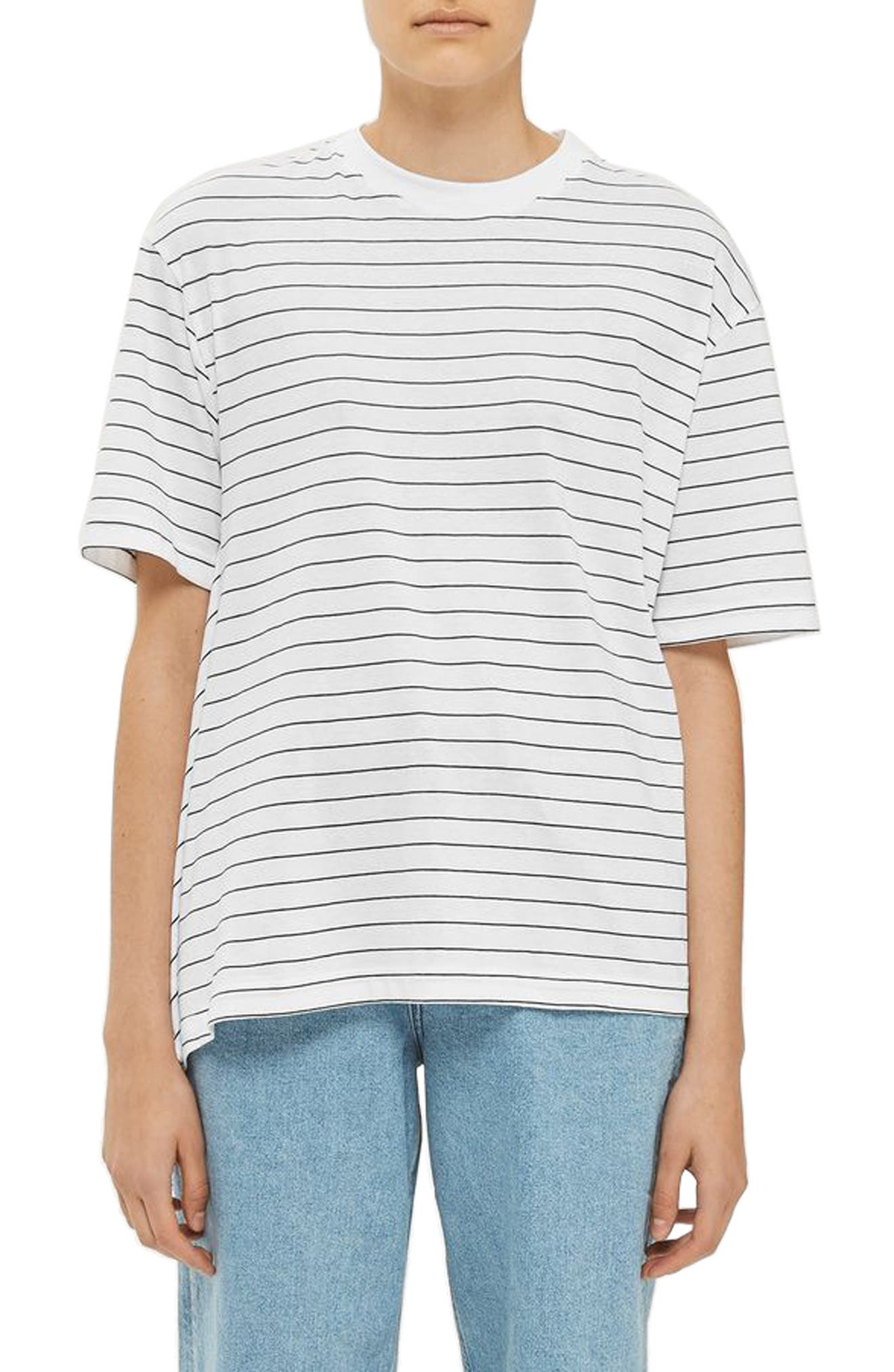Topshop Boutique Stripe Side Drape Tee