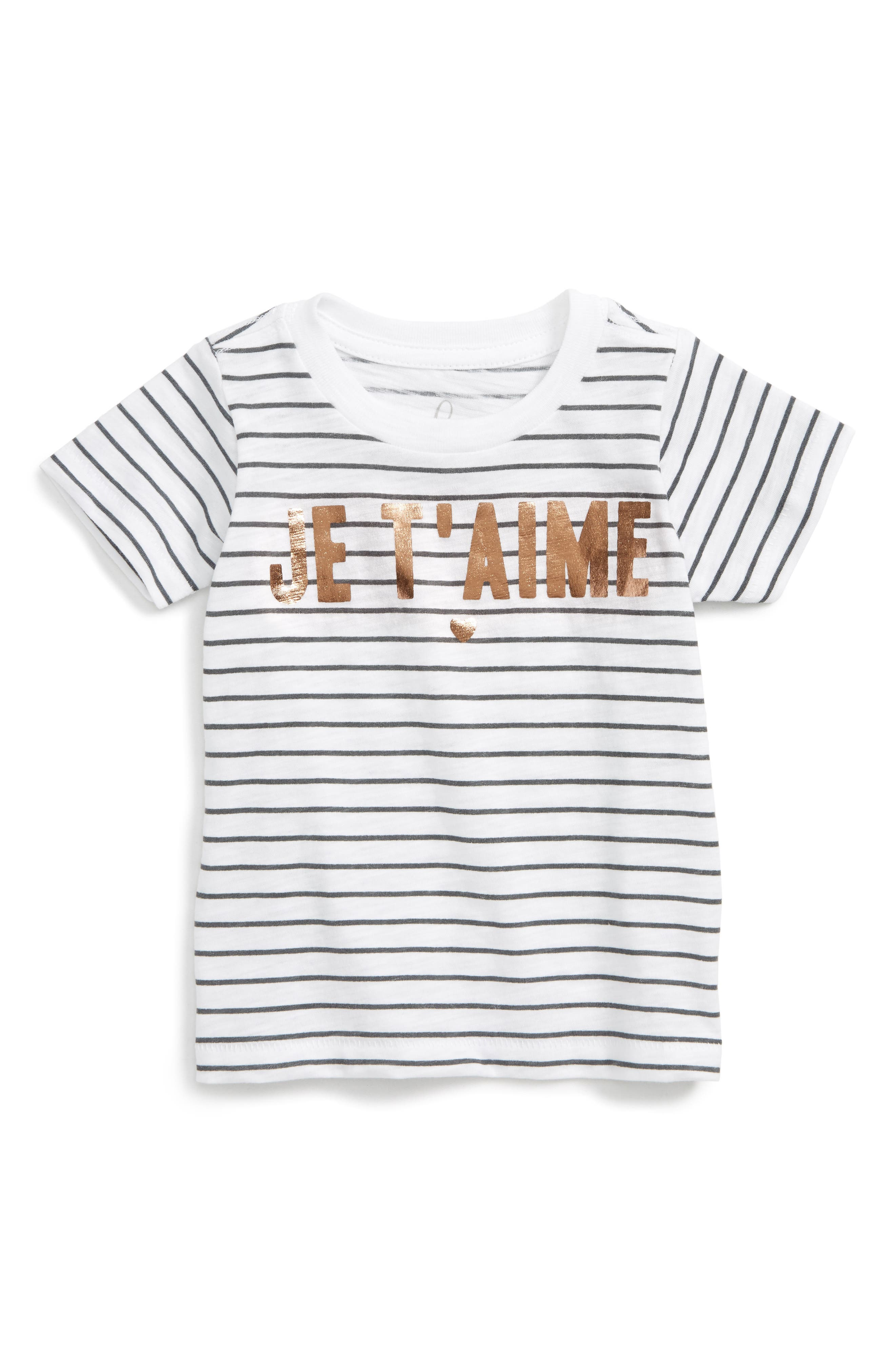 Peek Je T'aime Graphic Tee (Baby Girls)