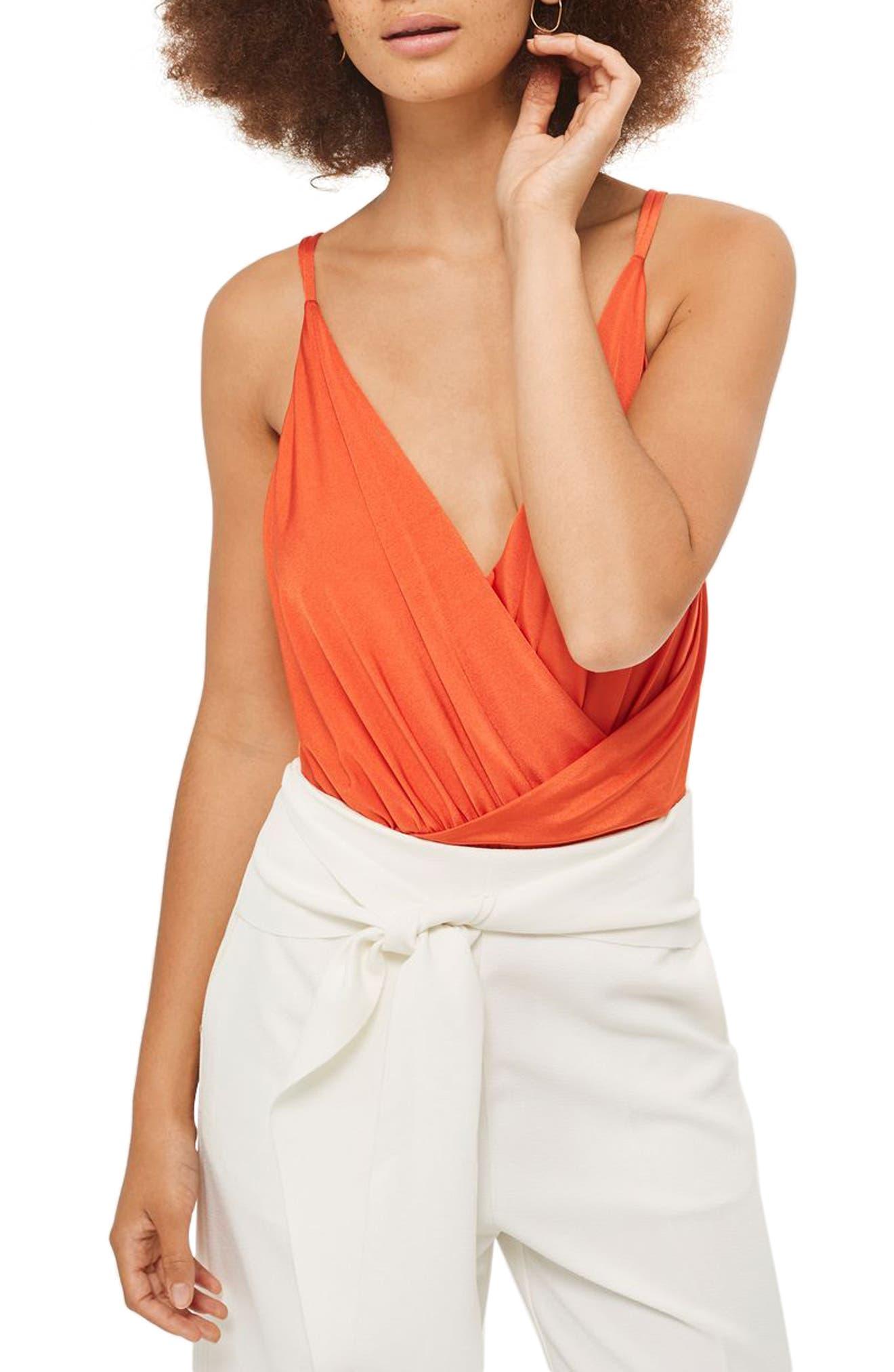 Topshop Strappy Wrap Bodysuit