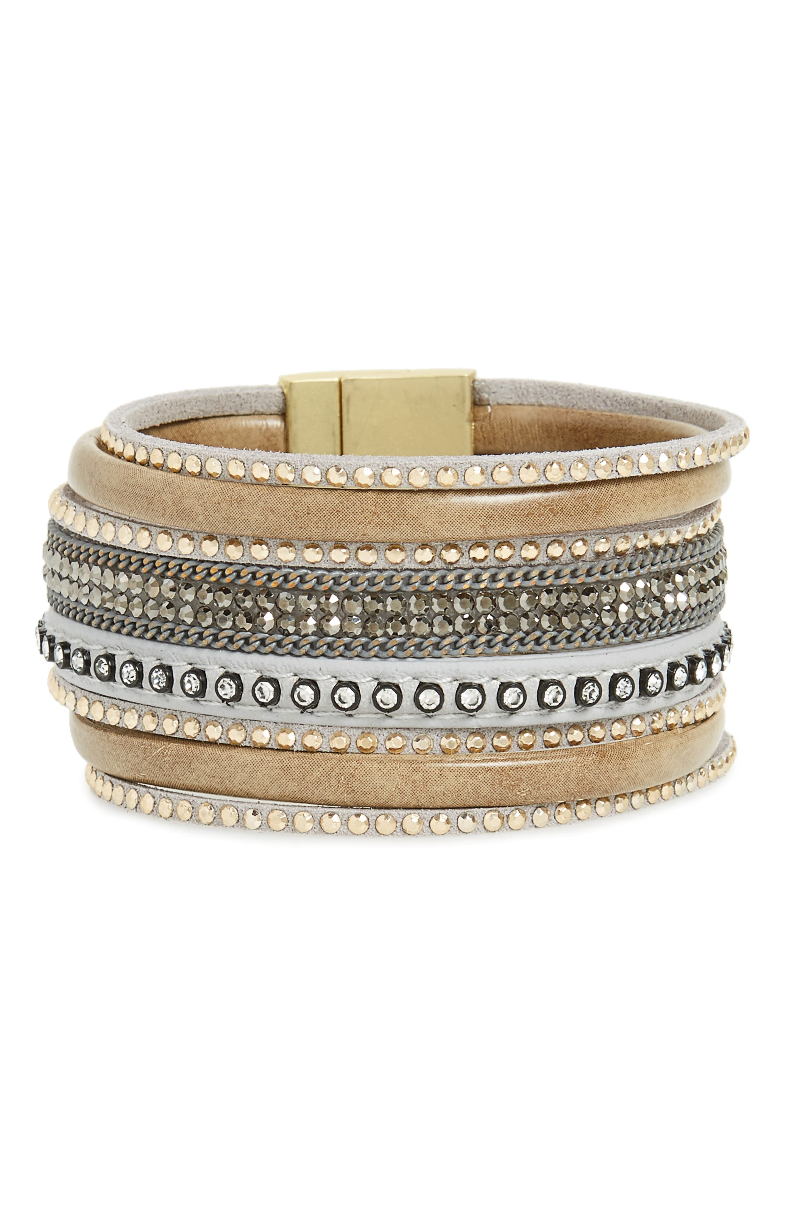Panacea Faux Leather Bracelet