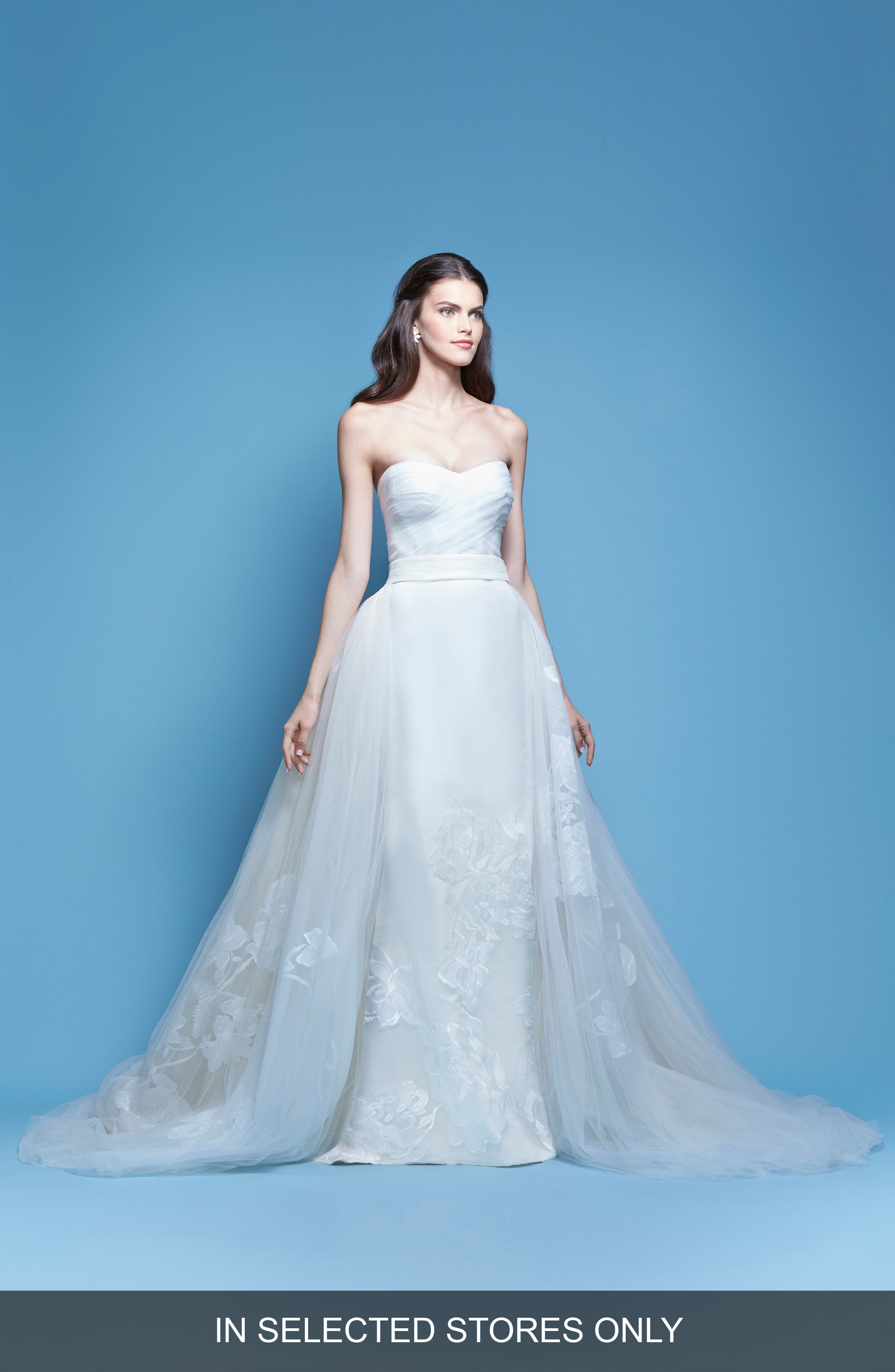 Carolina Herrera 'Josefina' Strapless Silk Faille Mermaid Gown with Detachable Tulle Overlay Skirt (In Stores Only)