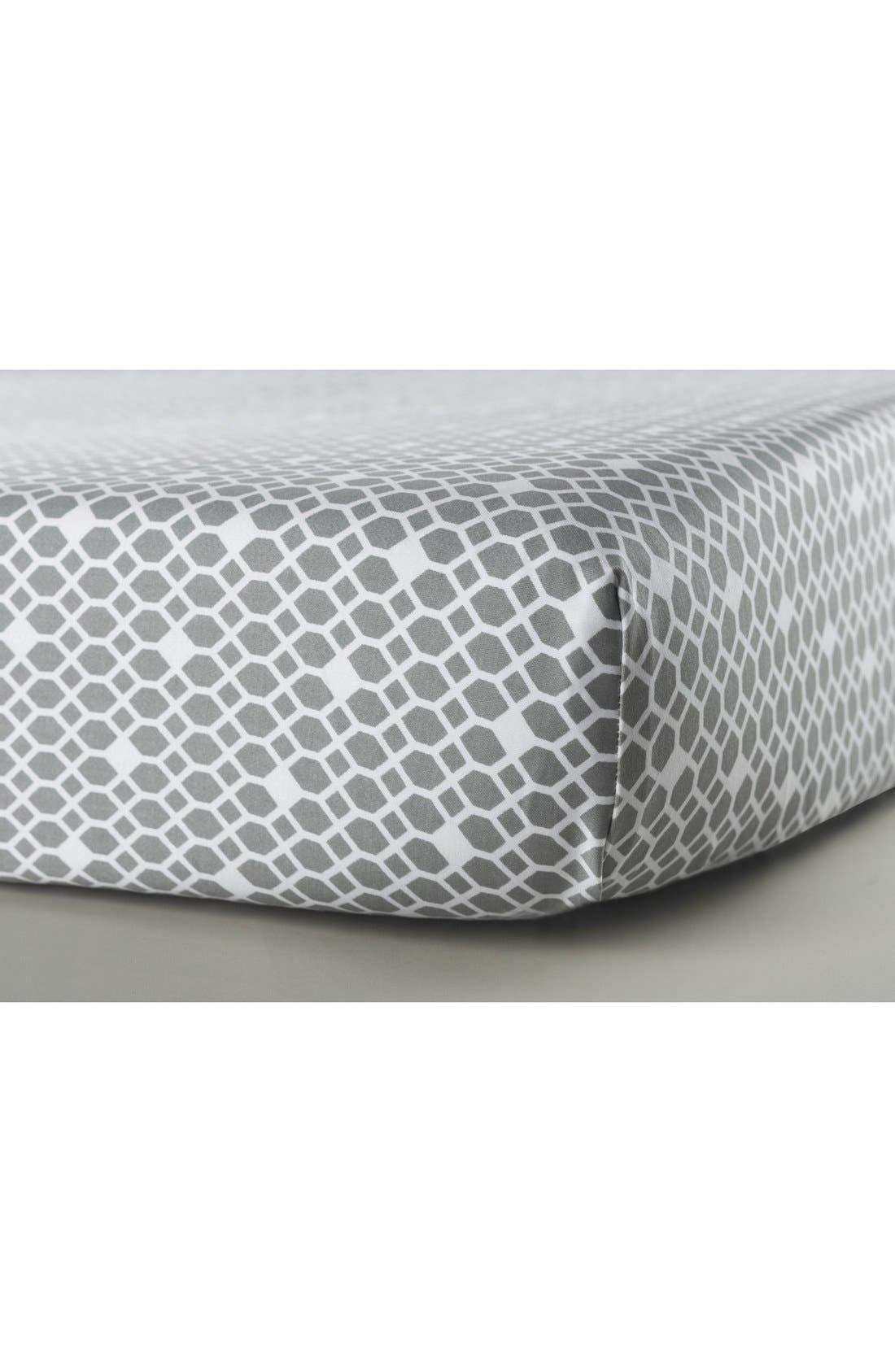 Alternate Image 1 Selected - Oilo Cotton Sateen Fitted Crib Sheet