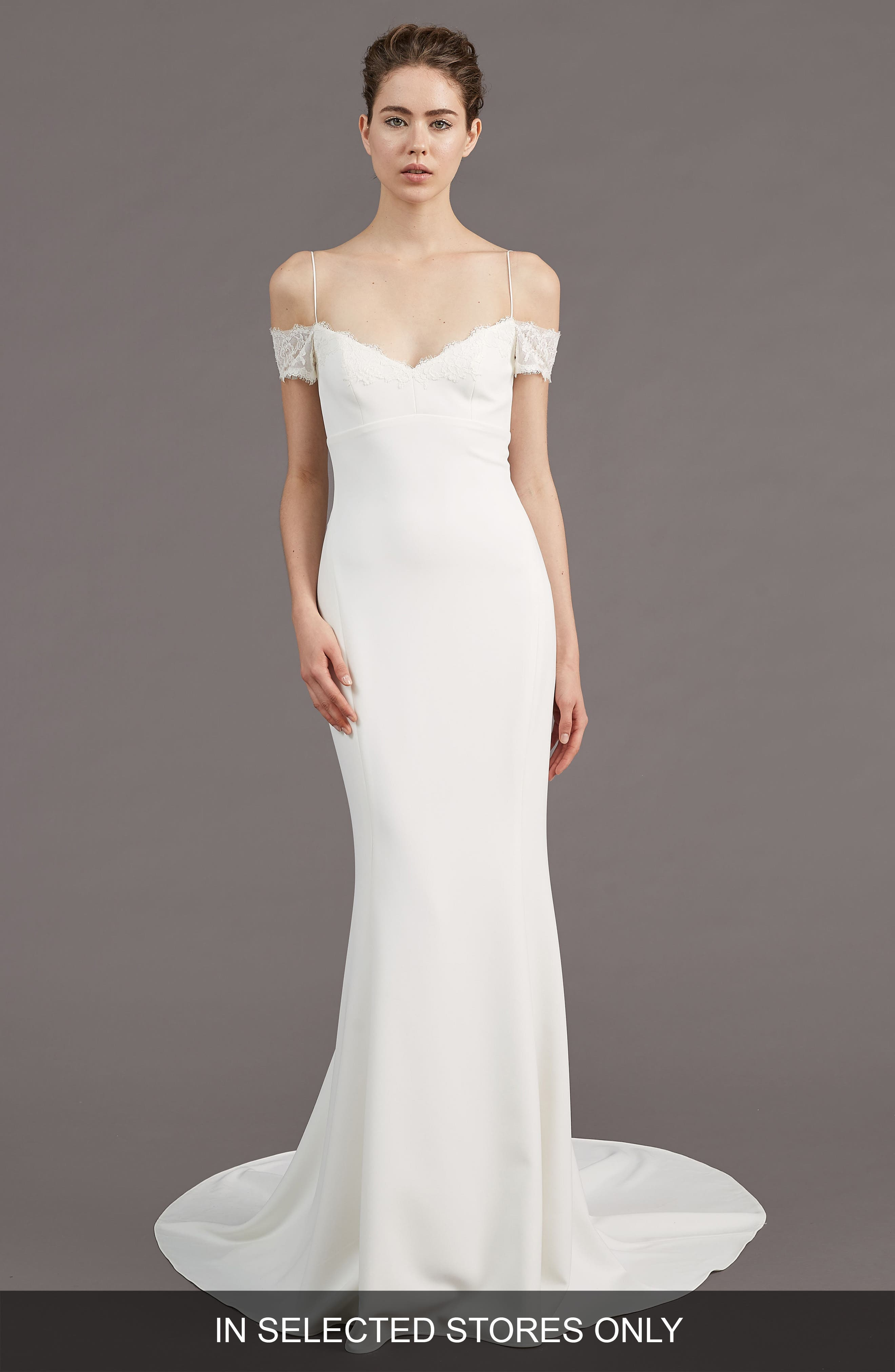 Amsale Mel Off the Shoulder Trumpet Gown (In Selected Stores Only)