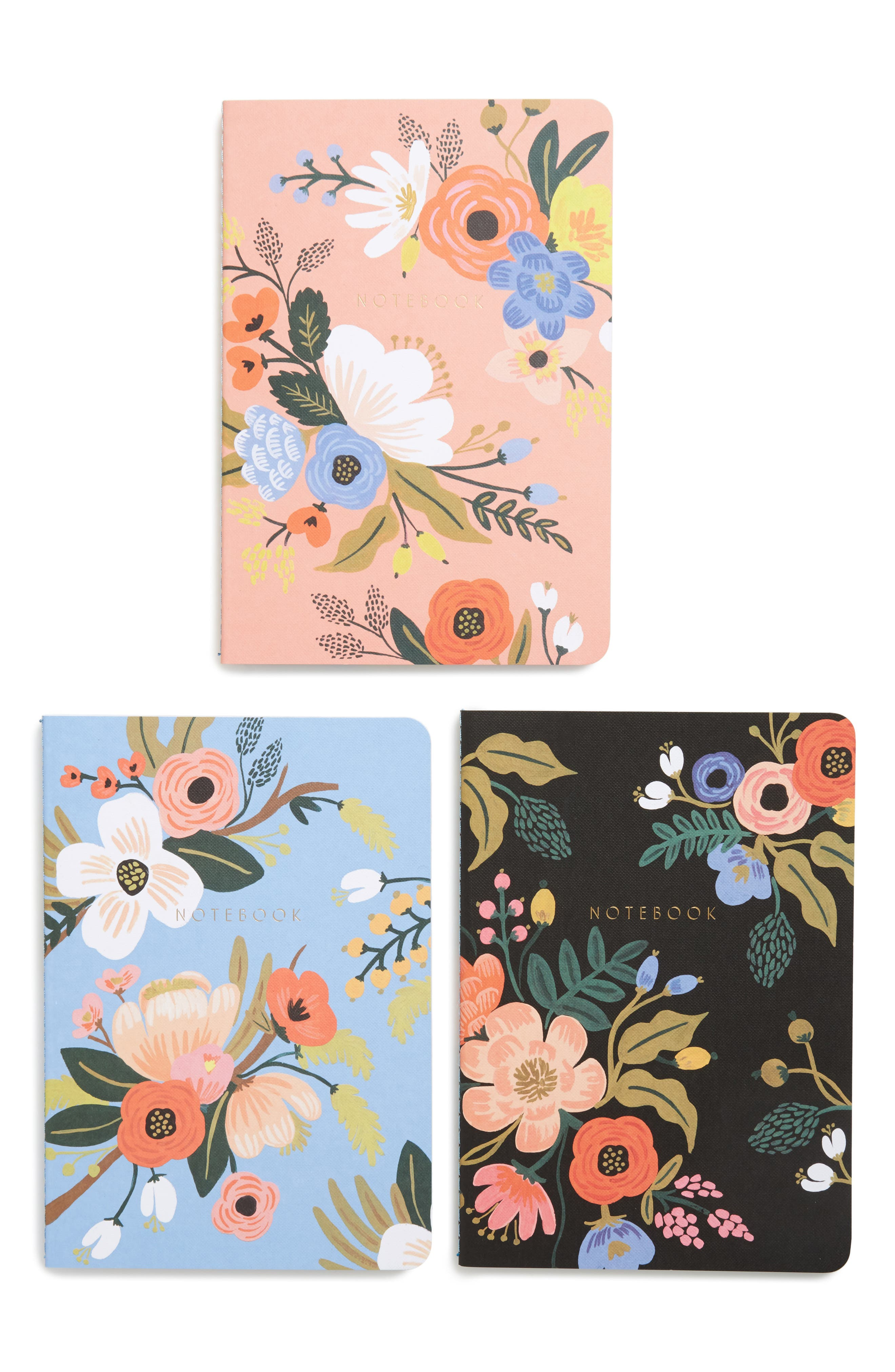 Rifle Paper Co. Lively 3-Pack Floral Notebooks