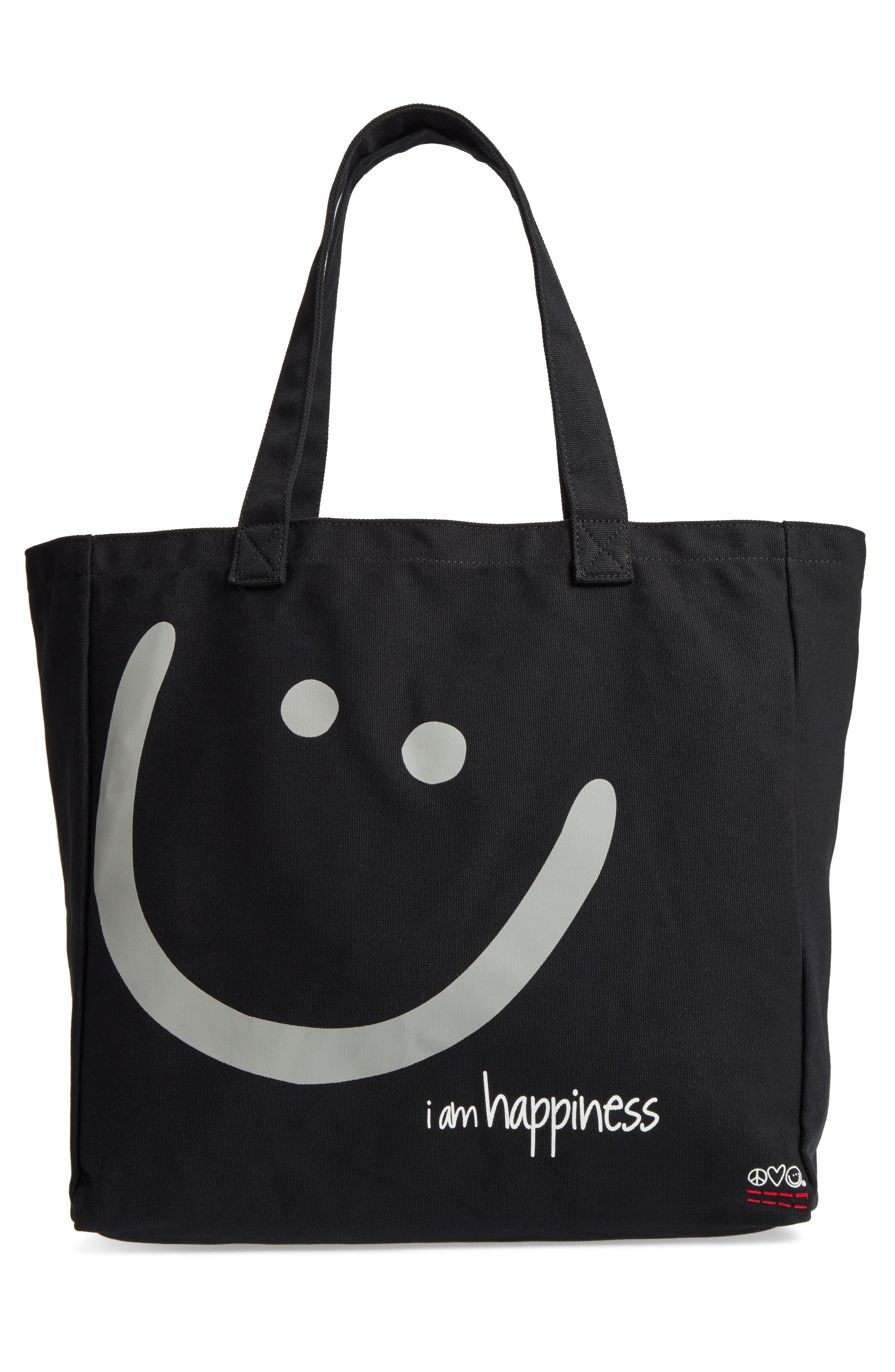 Peace Love World Oversized Canvas Tote