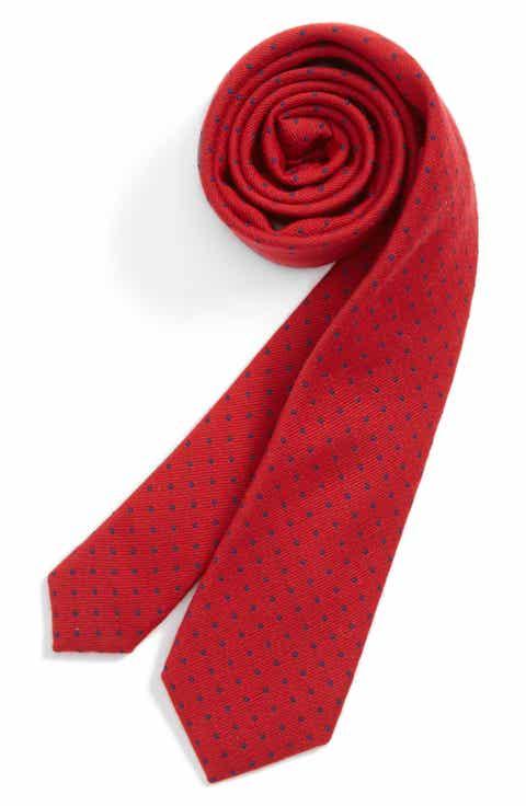 Nordstrom Dot Wool   Silk Tie (Big Boys)