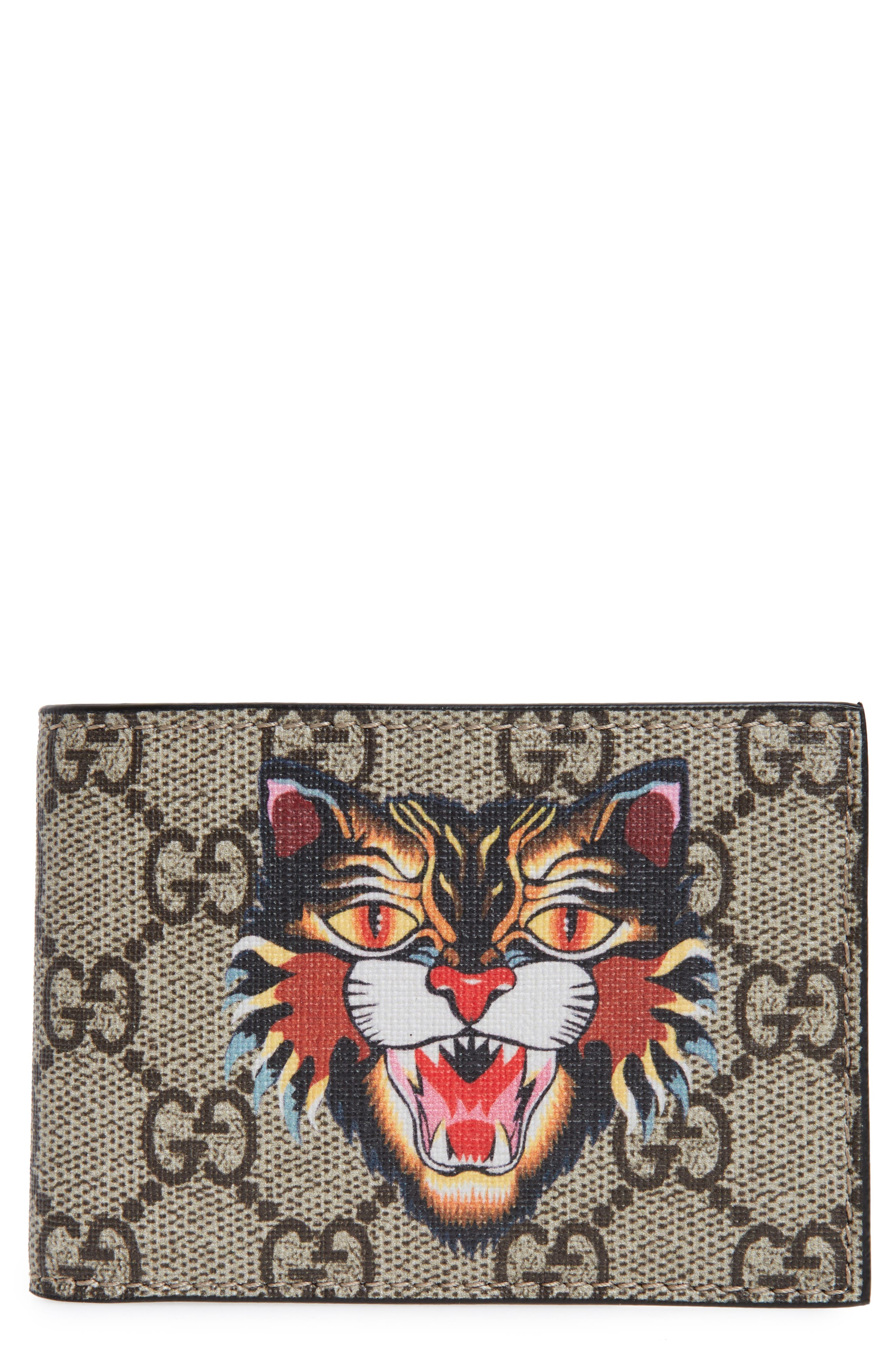 Gucci Bestiary Cat Wallet