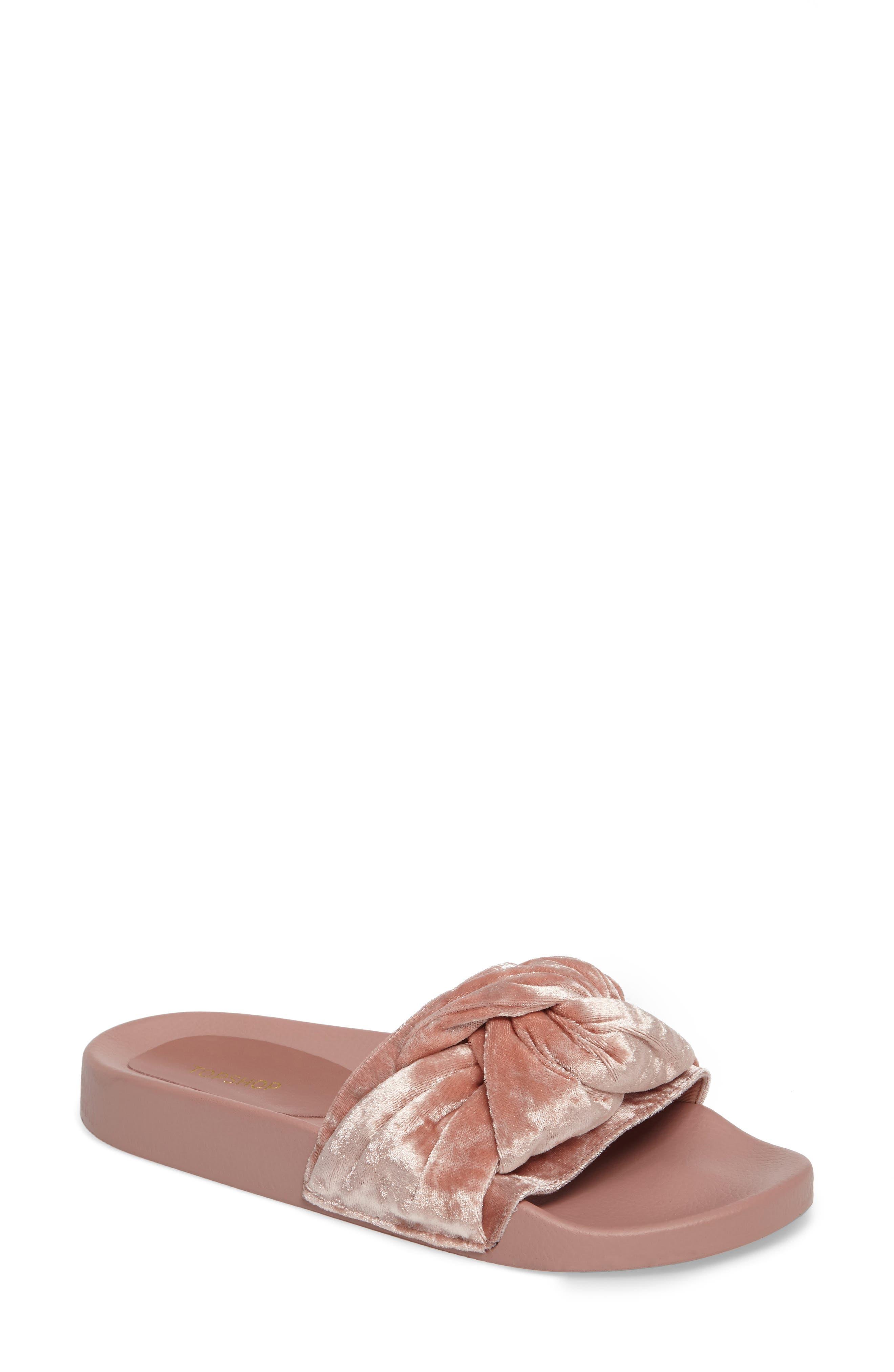 Topshop Harmony Knot Slide Sandal (Women)