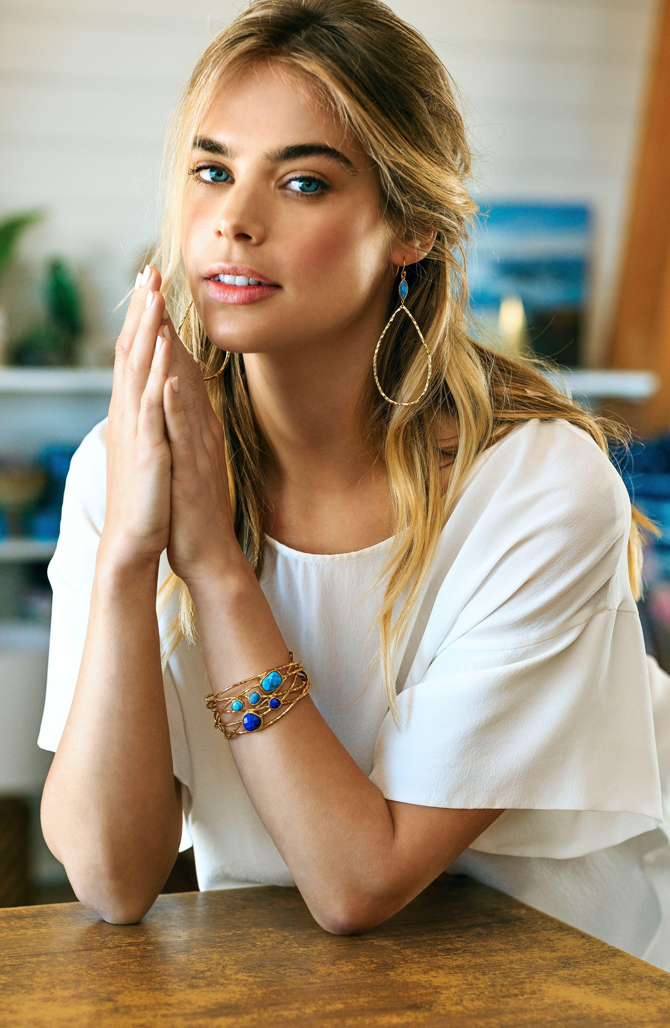Alternate Image 3  - gorjana Lola Semiprecious Stone Drop Earrings