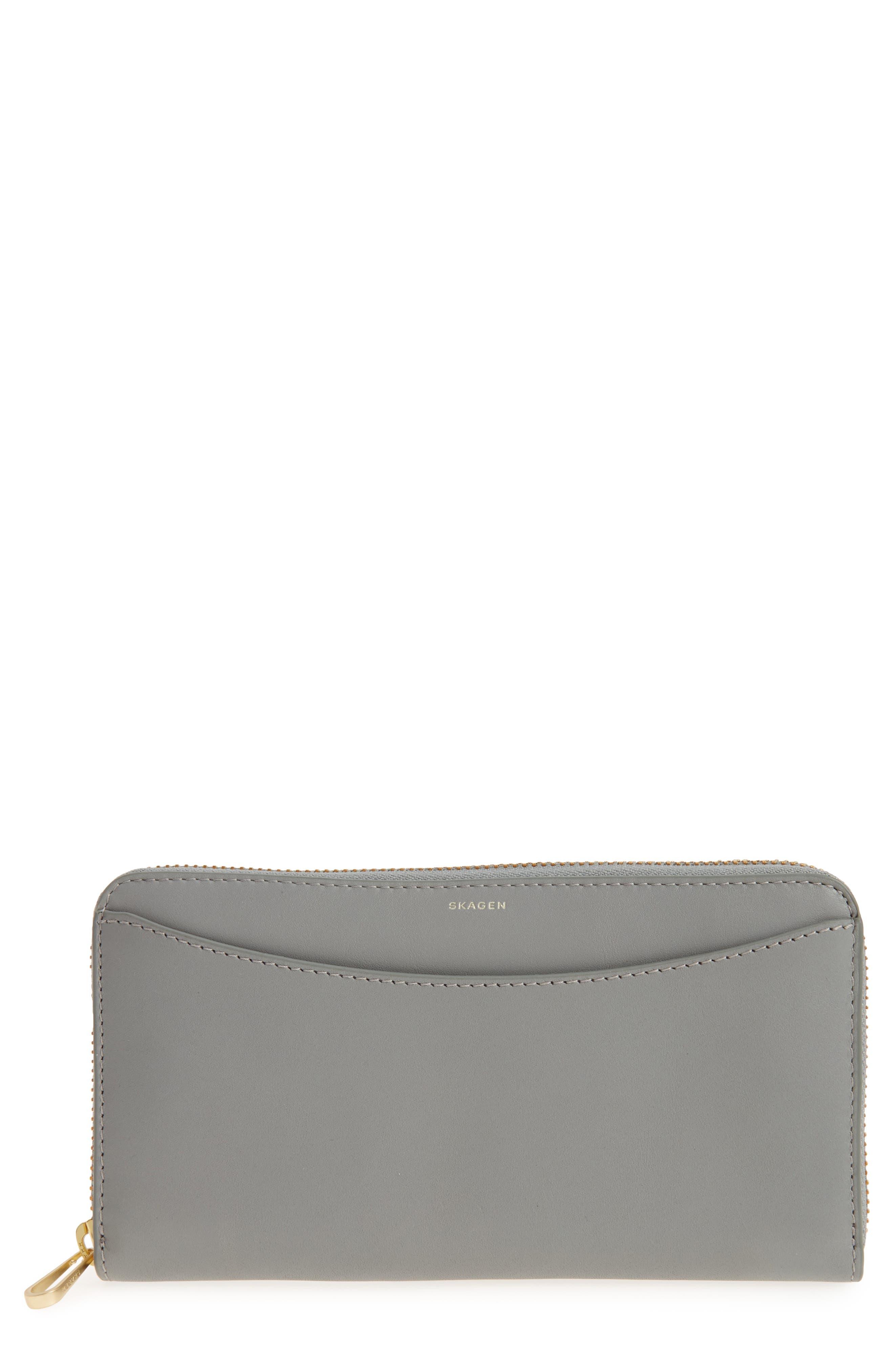 Skagen Leather Continental Wallet