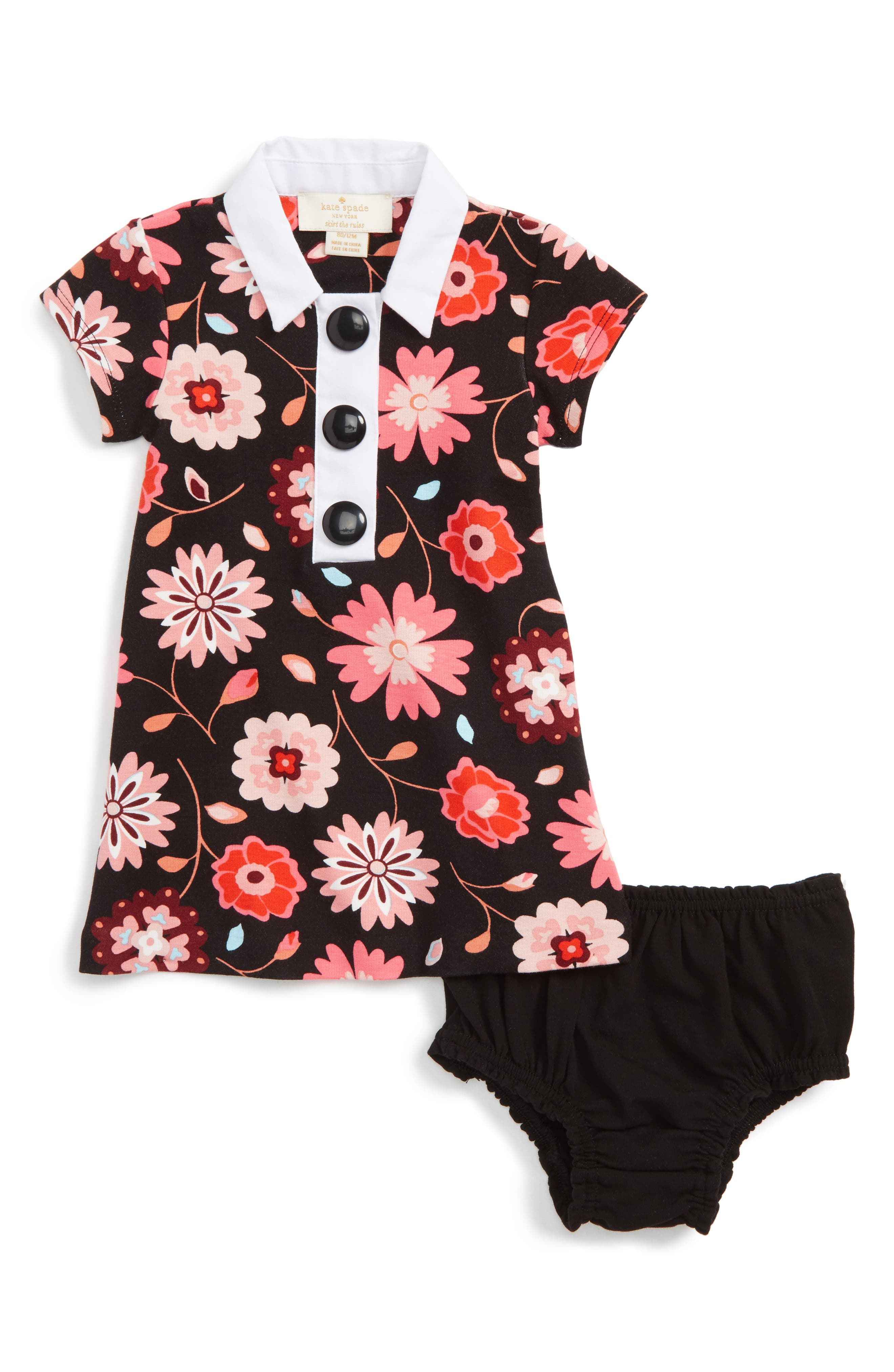 kate spade new york collared shift dress (Baby Girls)