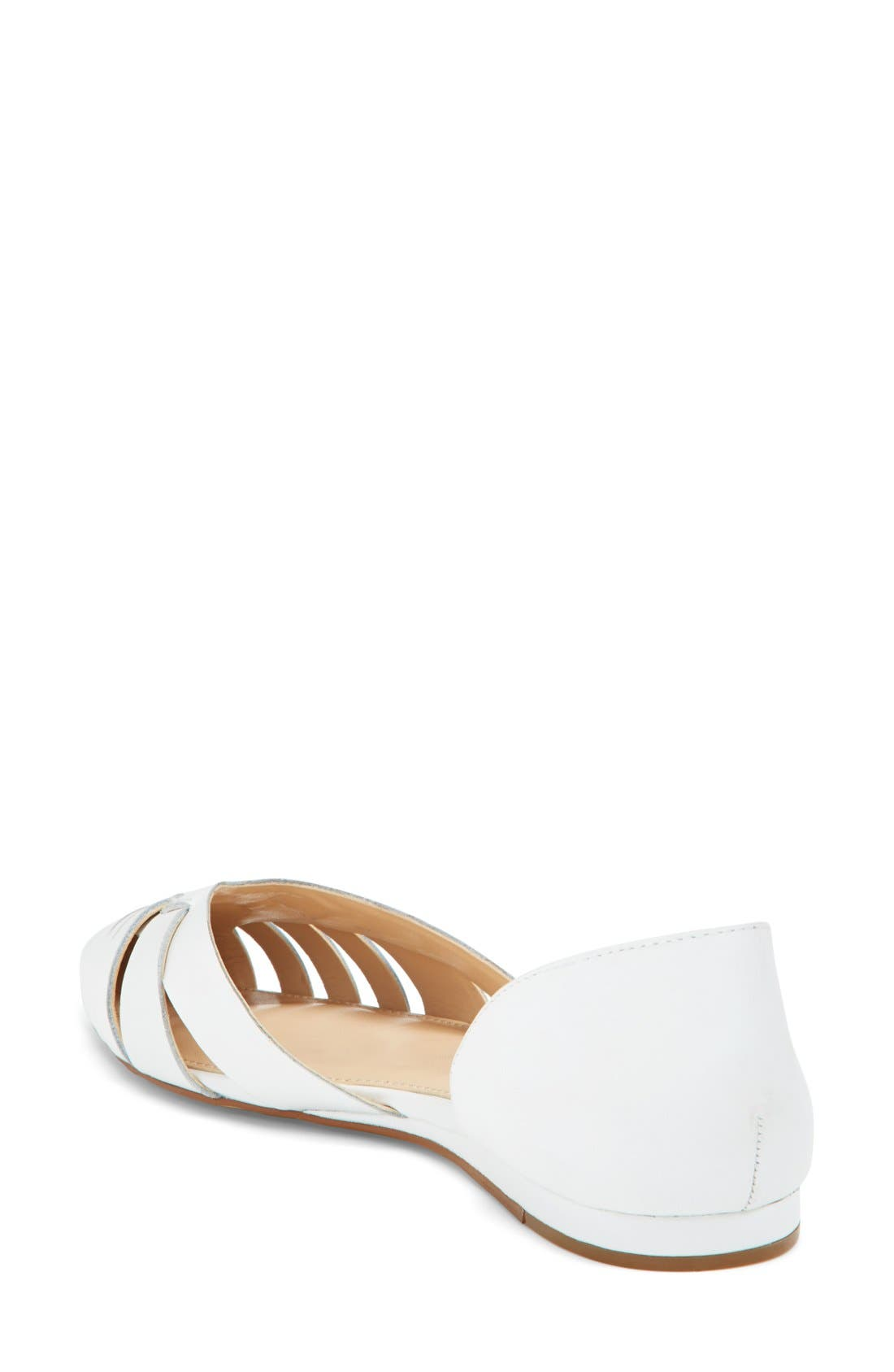 Alternate Image 2  - Vince Camuto 'Hallie' Woven Leather d'Orsay Flat (Women) (Nordstrom Exclusive)