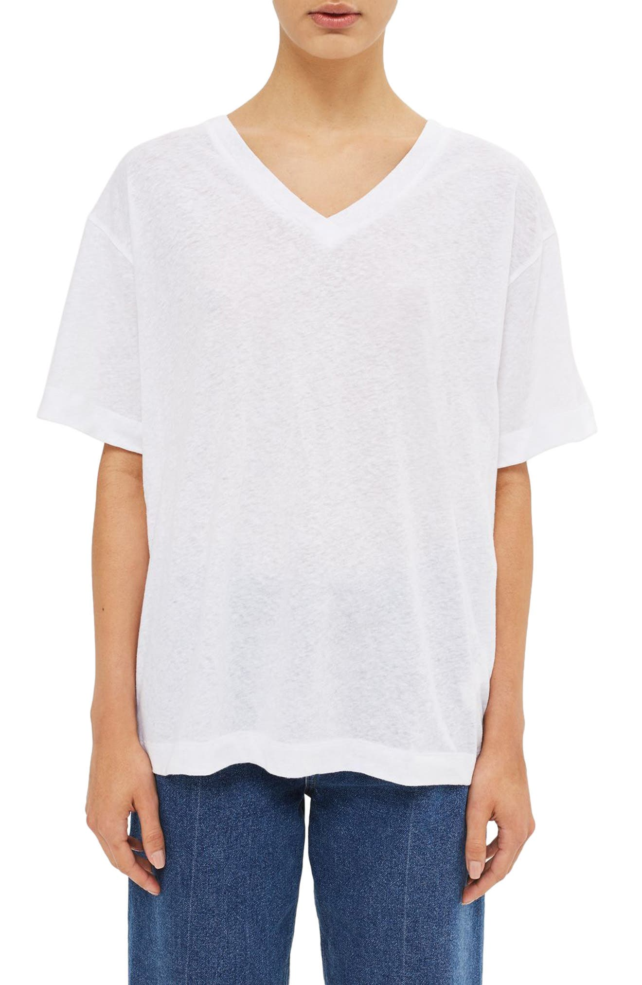 Topshop Boutique Relaxed V-Neck Tee