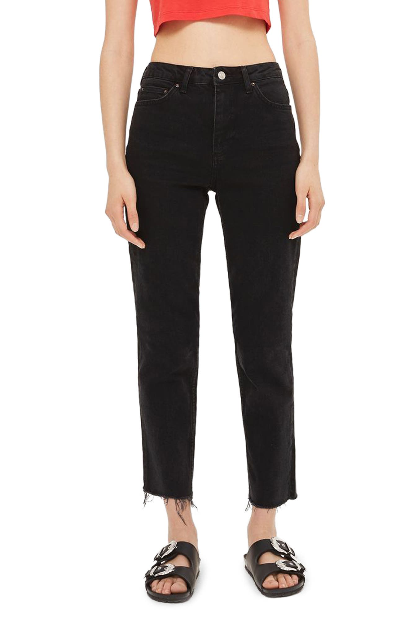 Topshop Raw Hem Straight Leg Jeans (Tall)