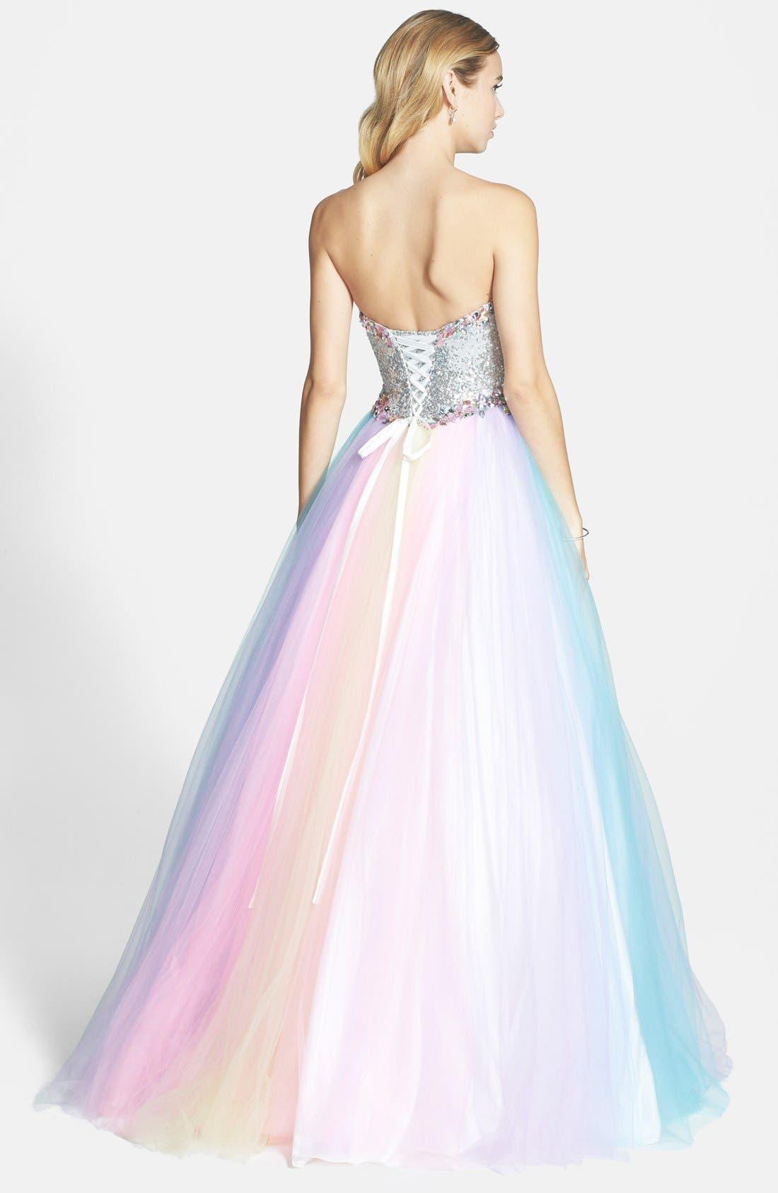 Alternate Image 2  - Mac Duggal Rainbow Gown
