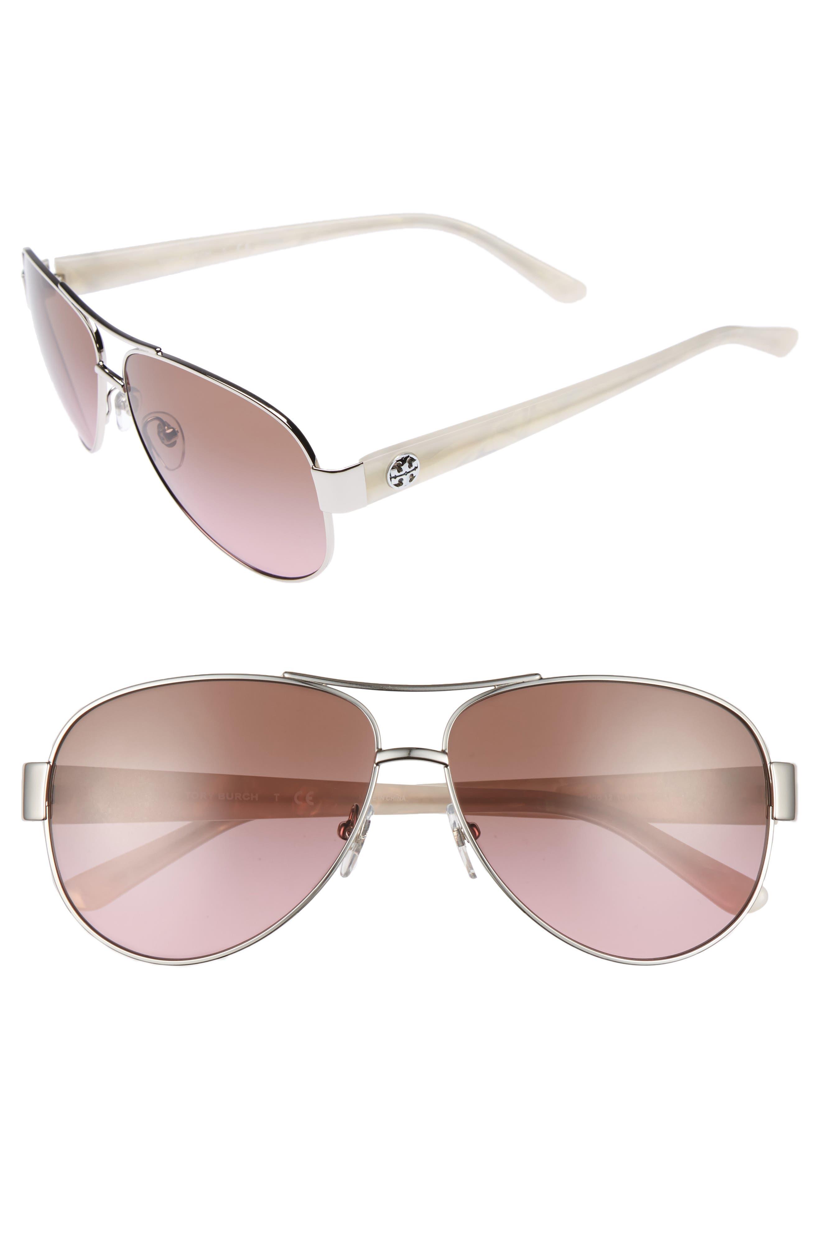 Tory Burch 60mm Aviator Sunglasses