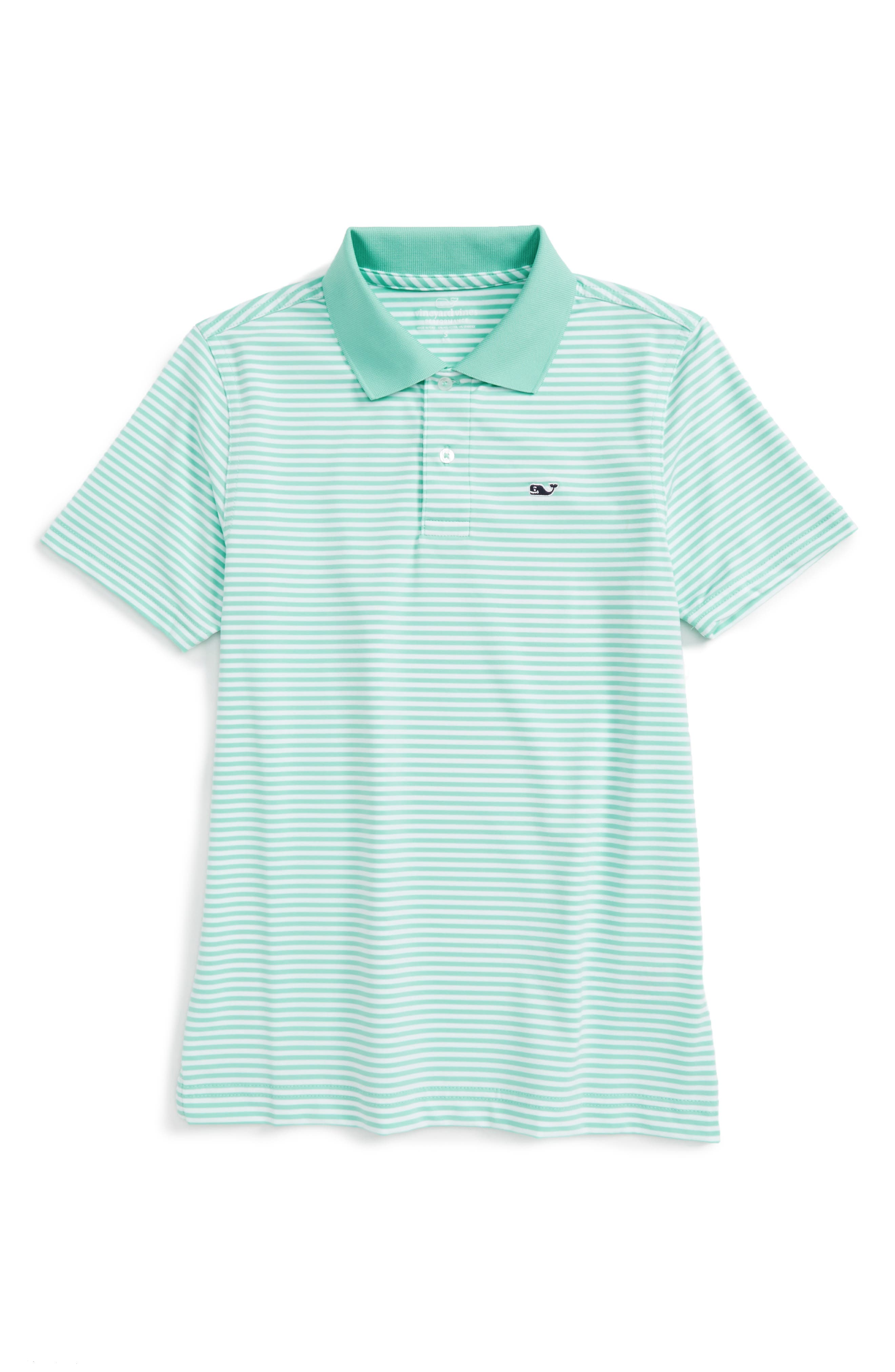 Vineyard Vines Feeder Stripe Performance Polo (Big Boys)