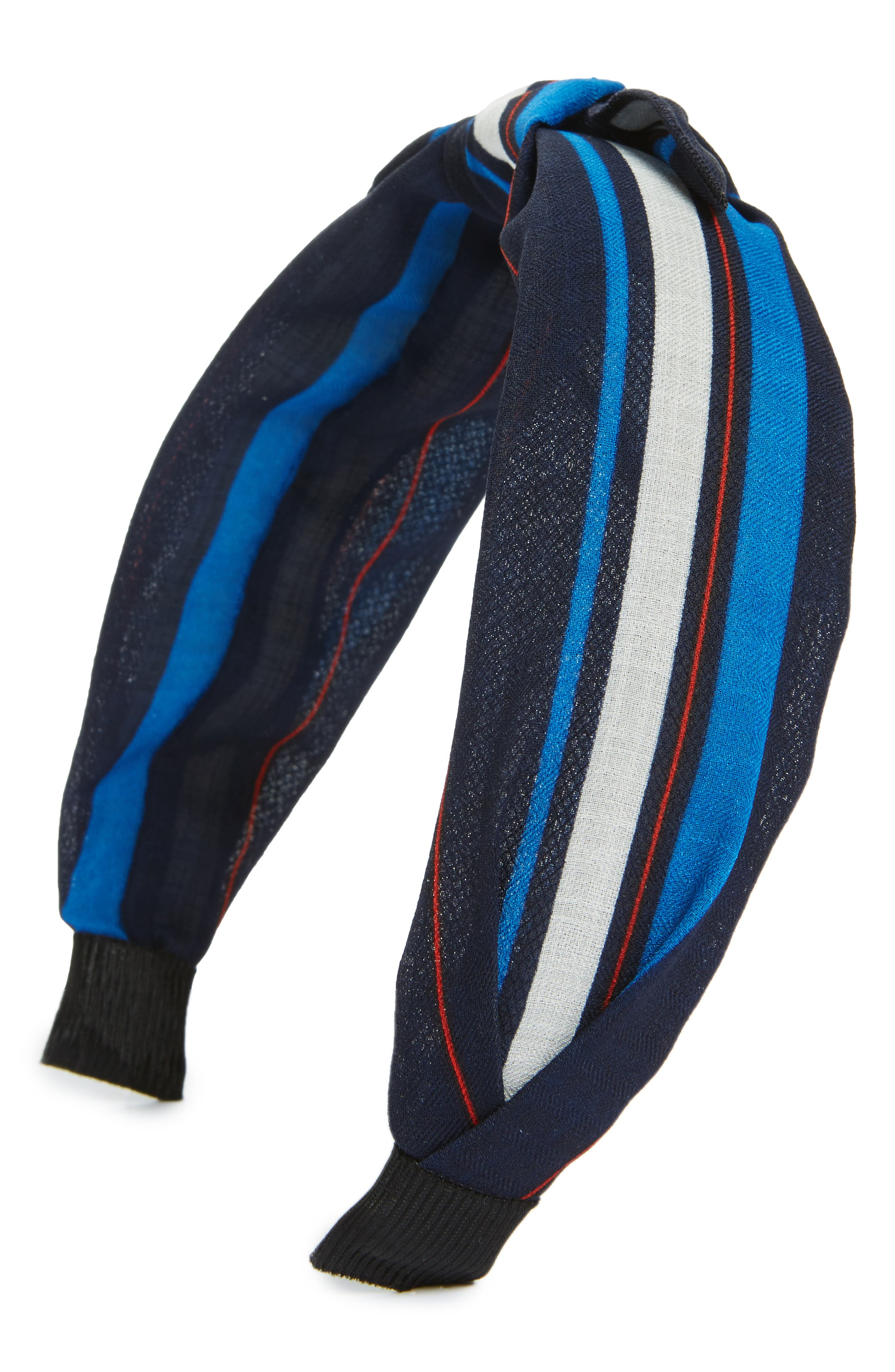 Cara Regatta Stripe Knot Headband