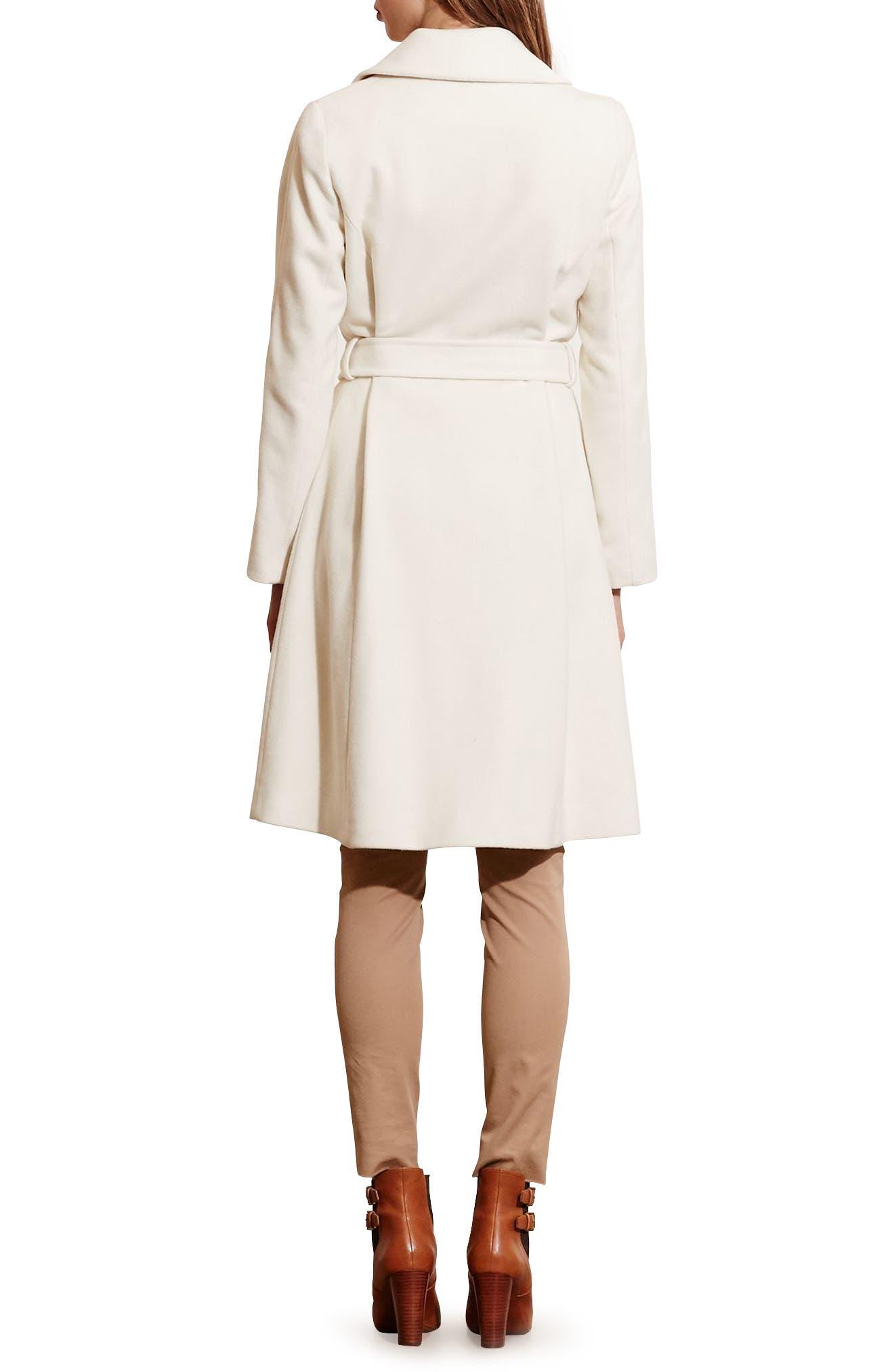 Alternate Image 2  - Lauren Ralph Lauren Wool Blend Wrap Coat (Regular & Petite) (Online Only)