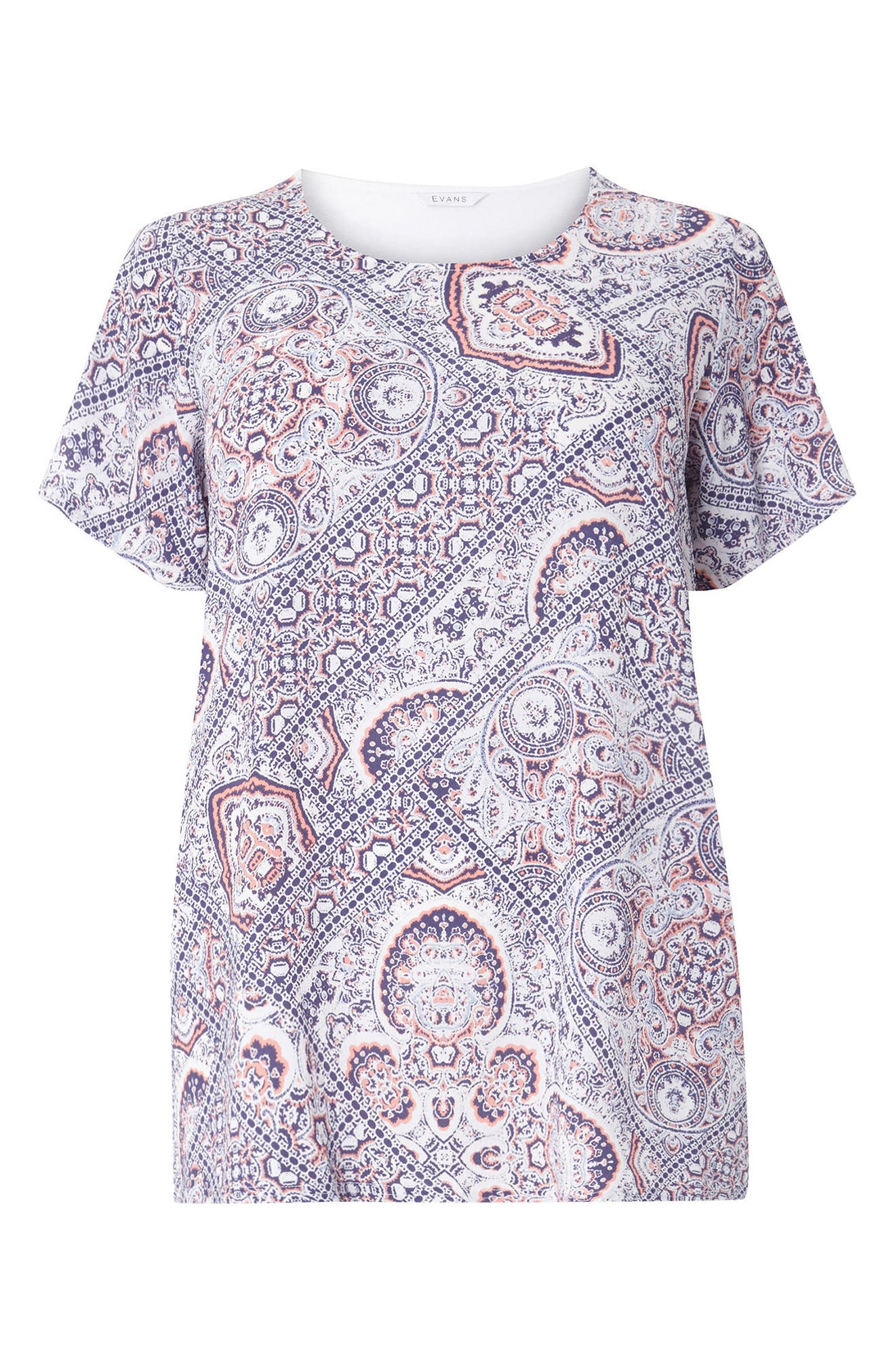 Evans Woven Front Cutabout Top (Plus Size)