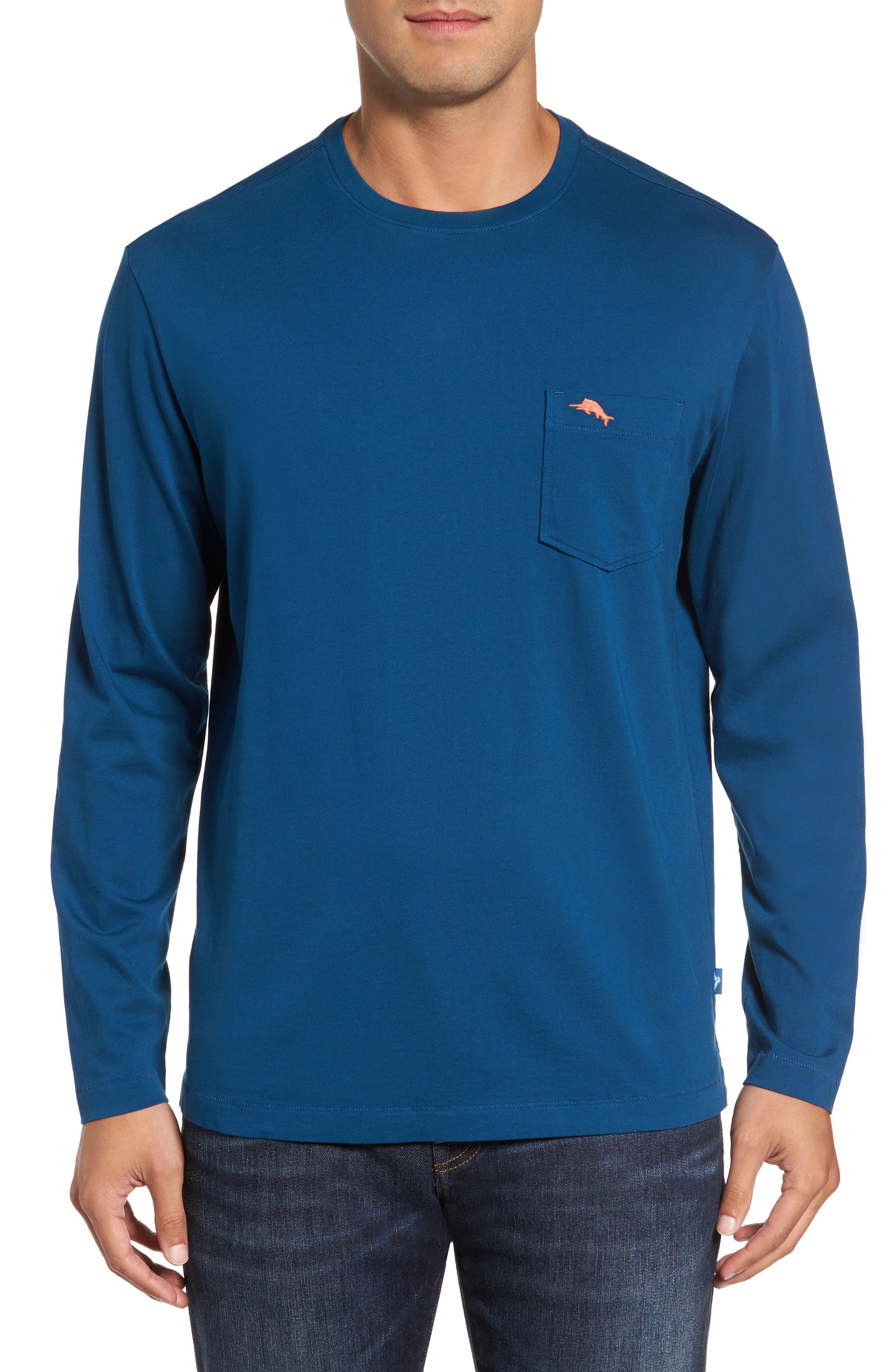 Alternate Image 1 Selected - Tommy Bahama 'Bali Skyline' Long Sleeve Pima Cotton T-Shirt (Big & Tall)