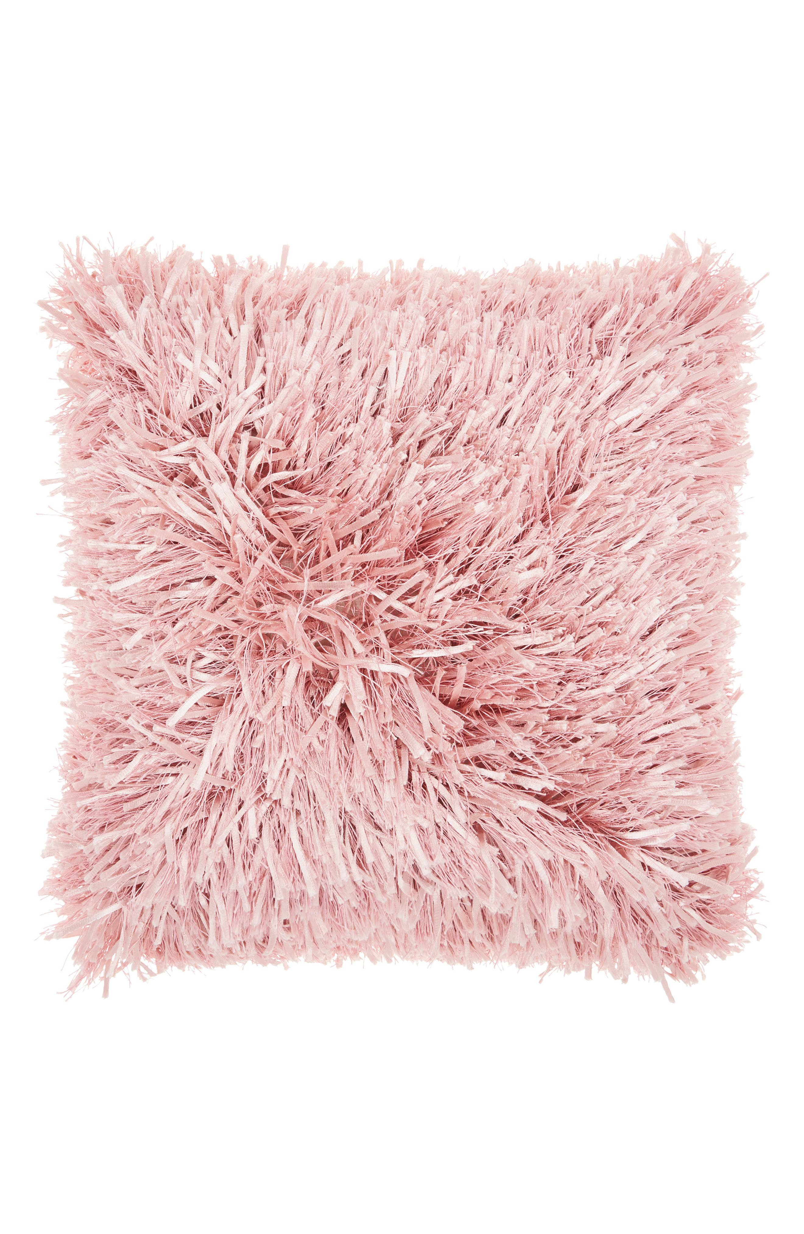 Mina Victory Ribbon & Faux Fur Pillow
