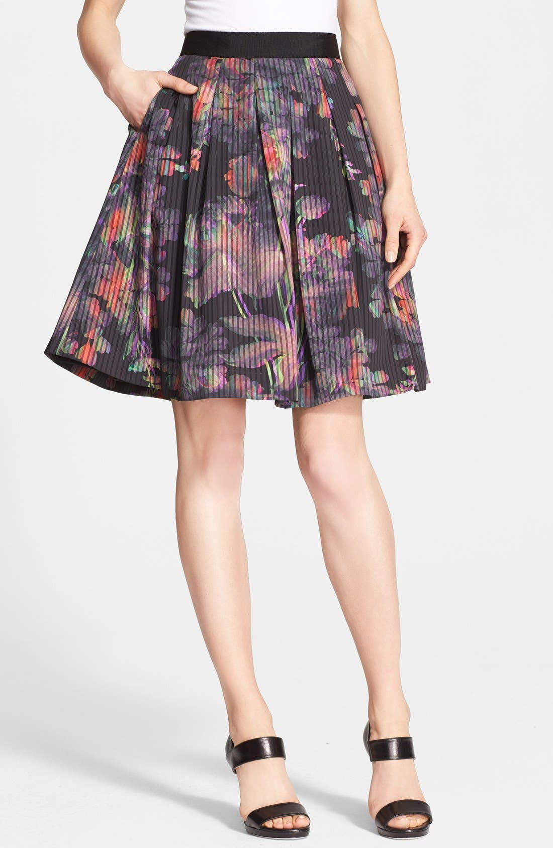 Alternate Image 1 Selected - Ted Baker London 'Jadzia Holographic Halftone' Print A-Line Skirt