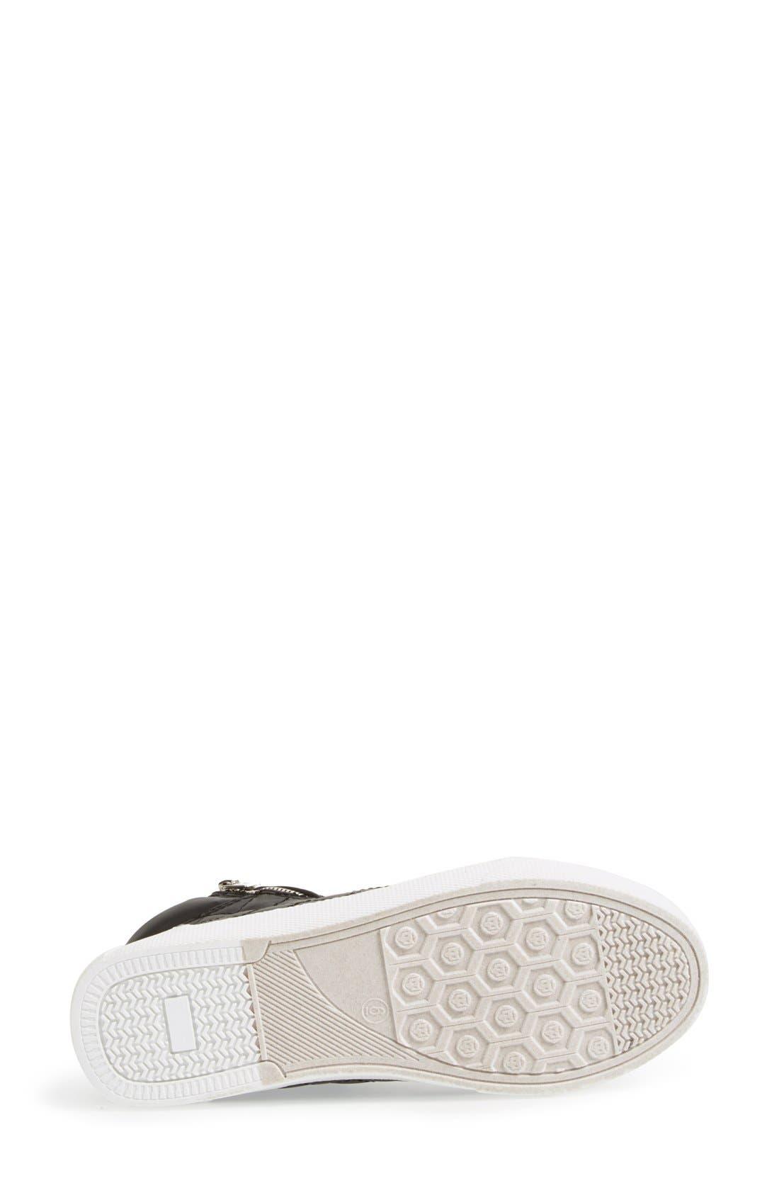 Alternate Image 4  - Steve Madden 'Decaf' Quilted High Top Sneaker (Women)
