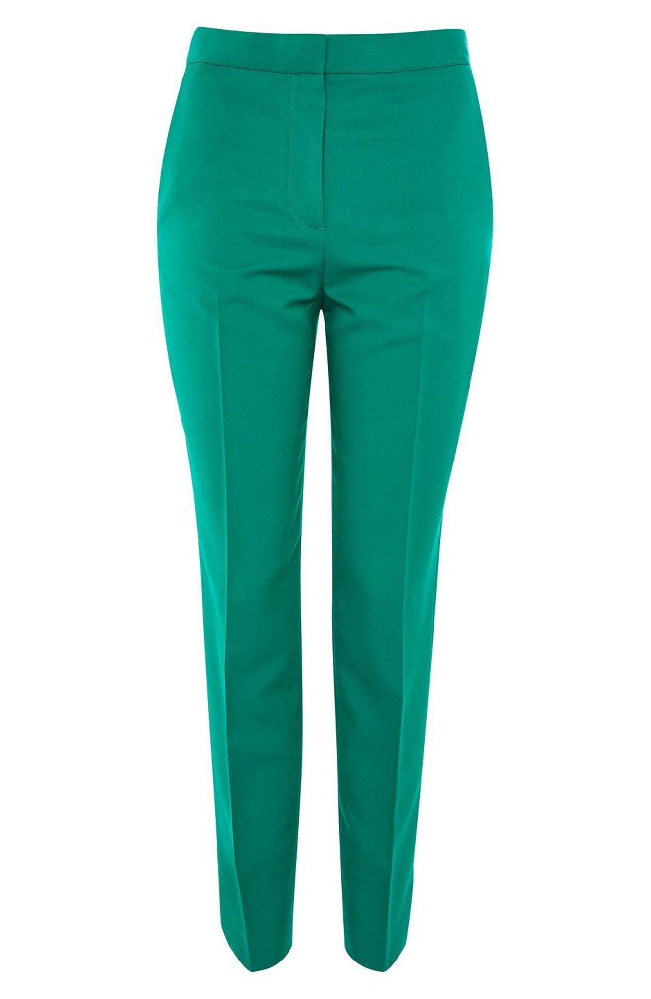 Alternate Image 4  - Topshop Tailored Cigarette Trousers (Regular & Petite)
