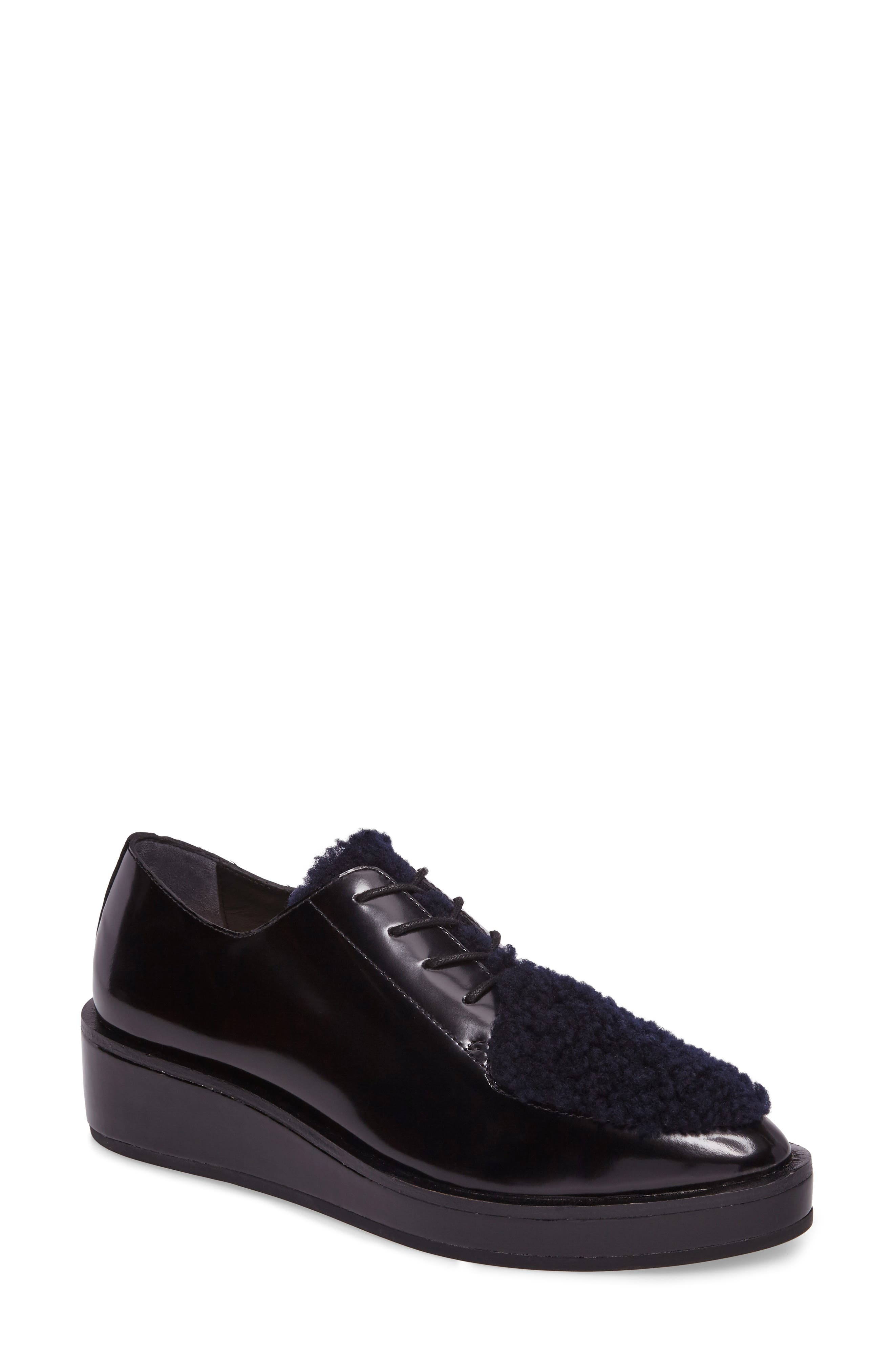 Loeffler Randall Frances Genuine Shearling Oxford (Women)