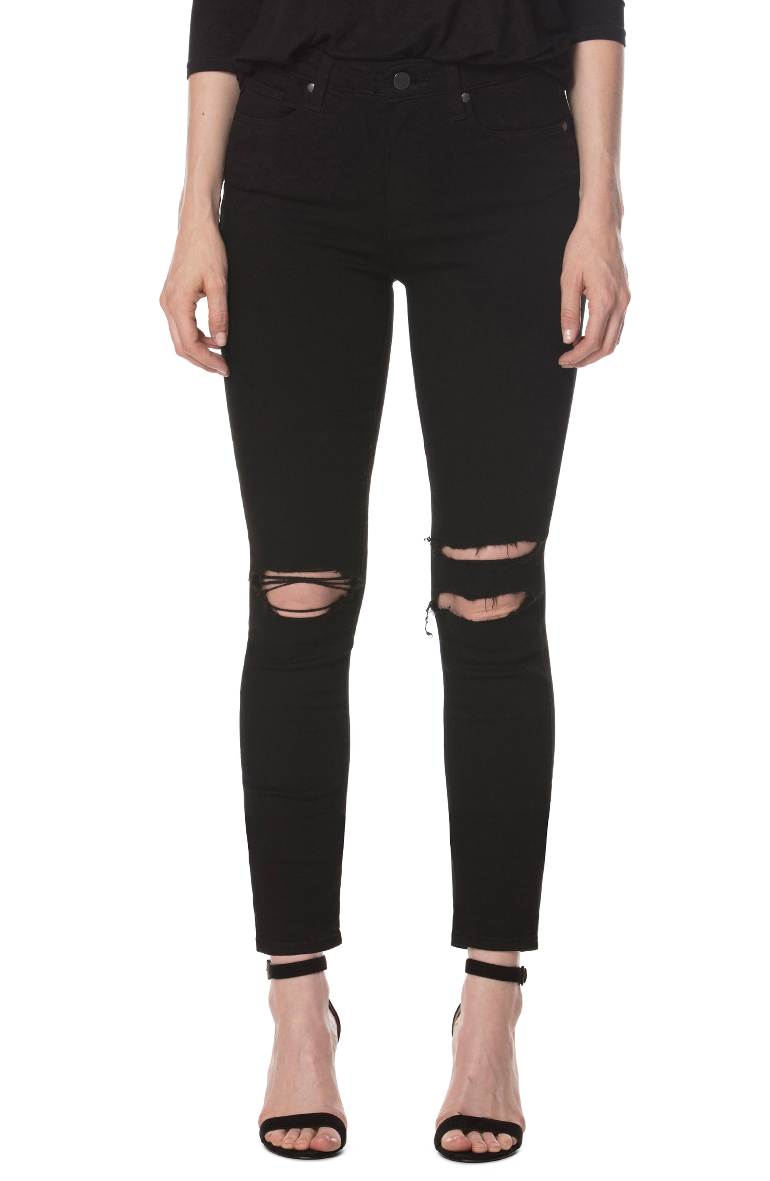 PAIGE Transcend - Hoxton Skinny Ankle Jeans (Starry Night)