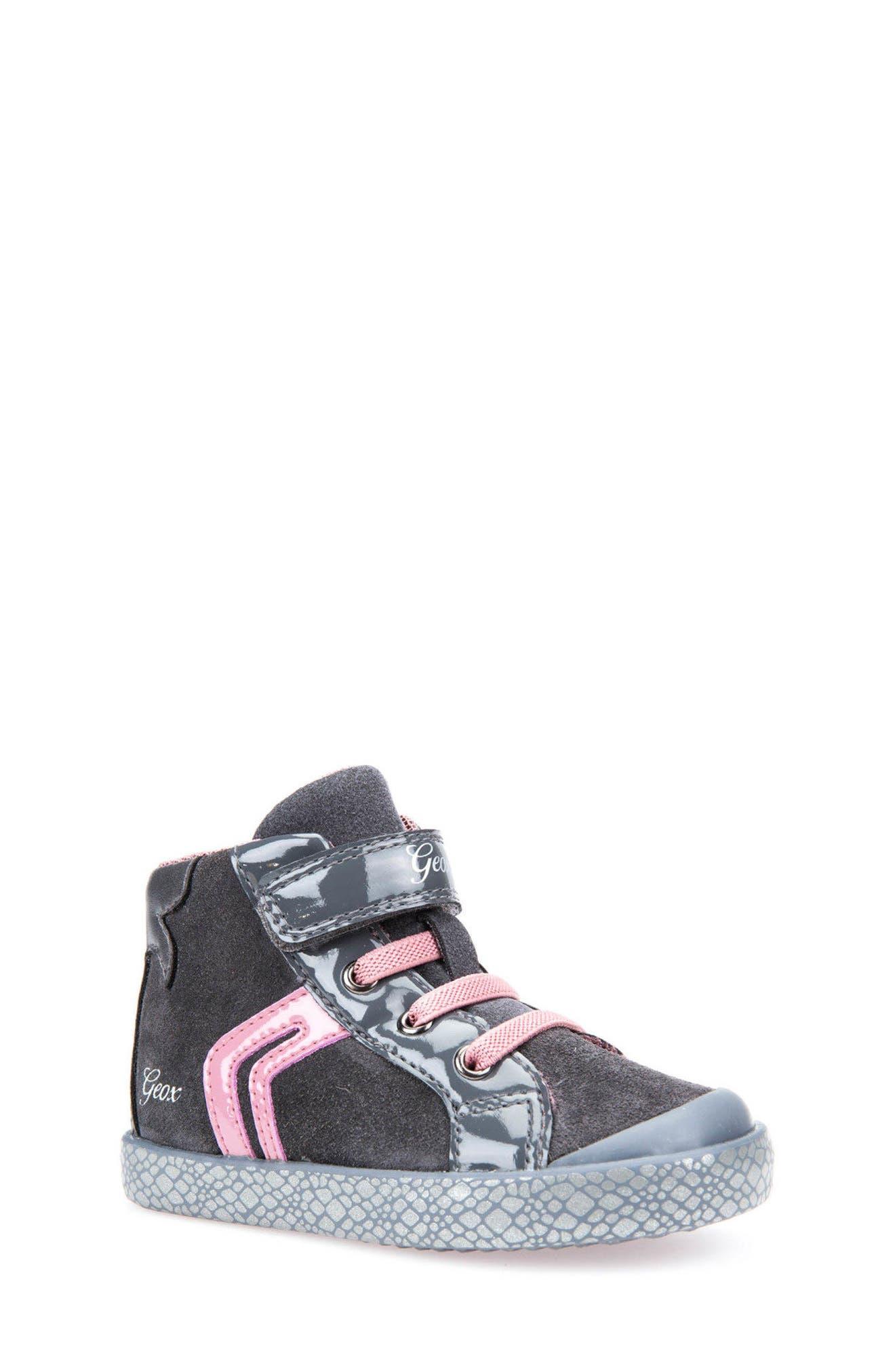 Geox Kiwi Girl High Top Sneaker (Walker & Toddler)