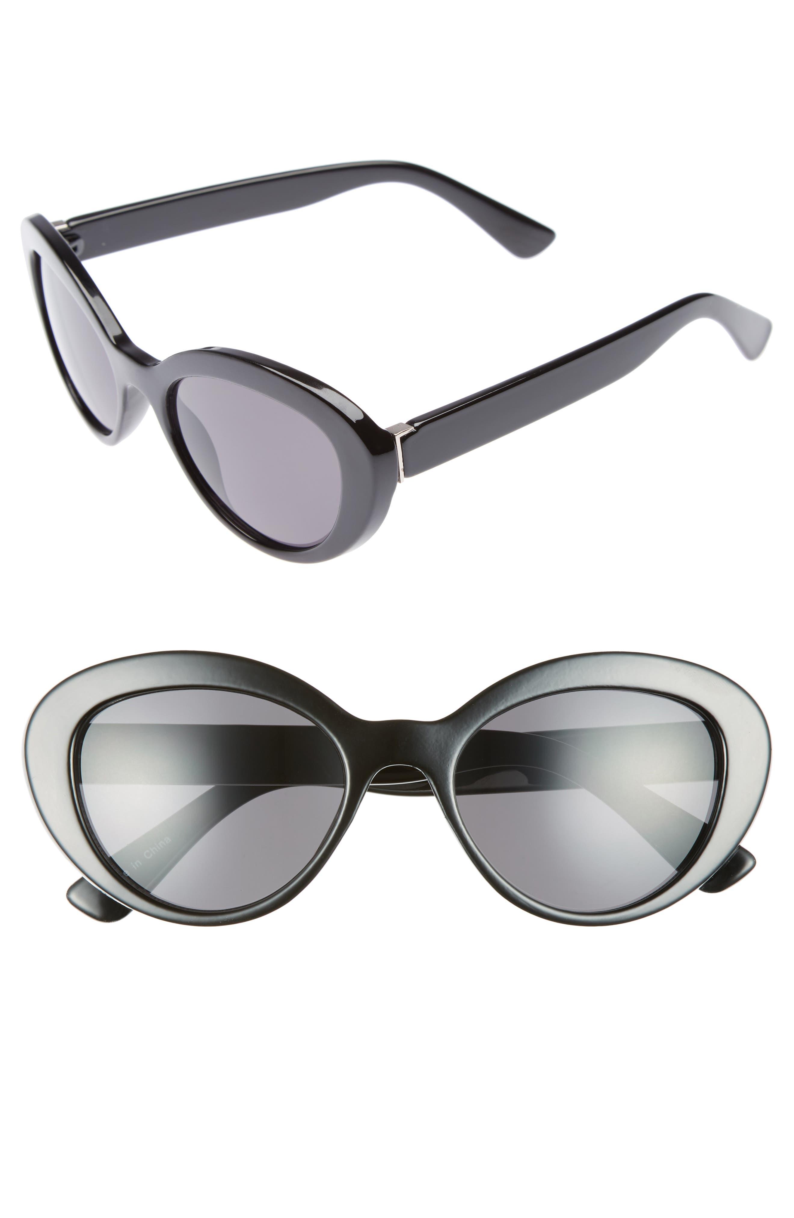BP. 50mm Vintage Cat Eye Sunglasses