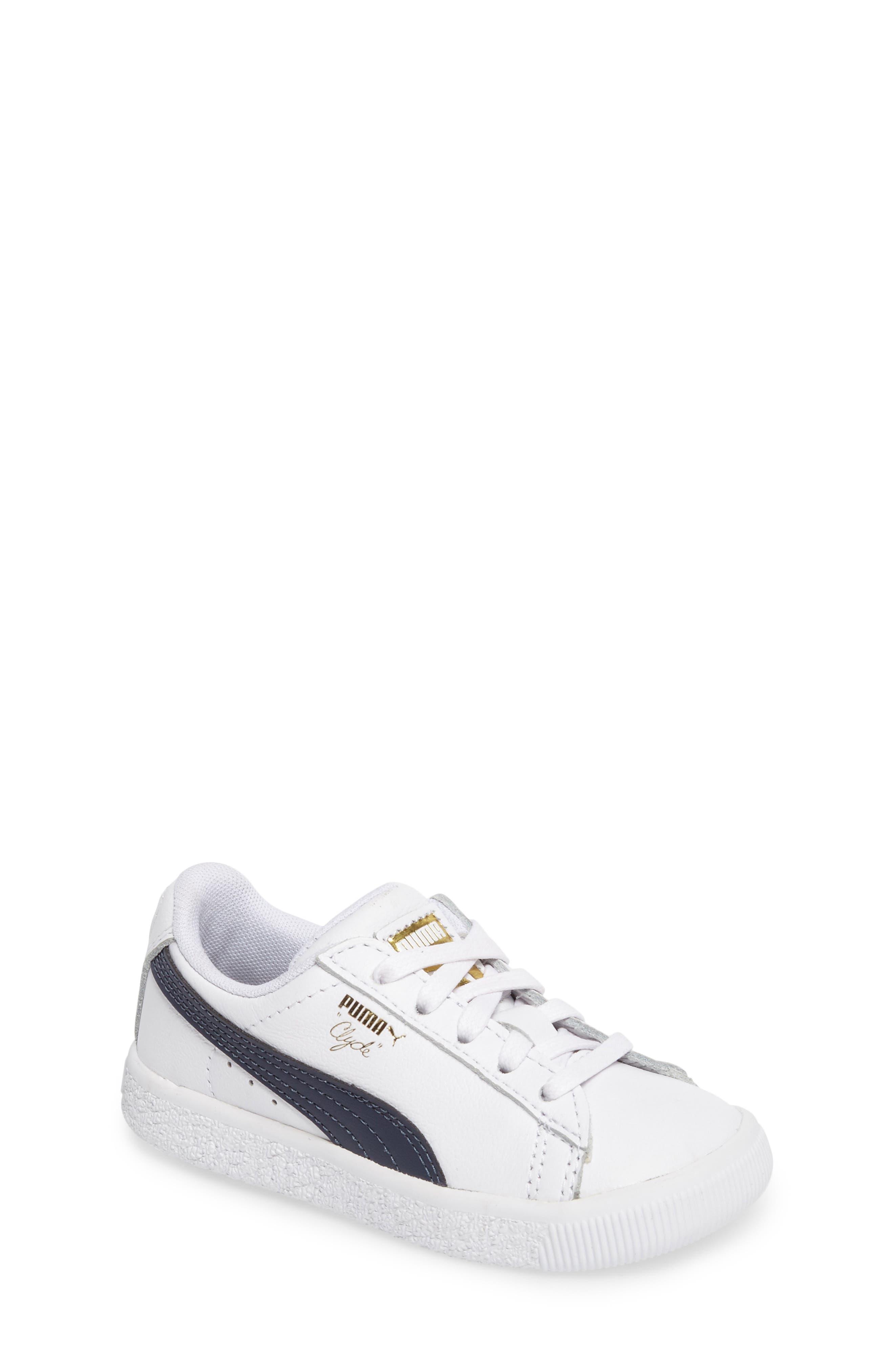 PUMA Clyde Core Foil Sneaker (Baby, Walker & Toddler)