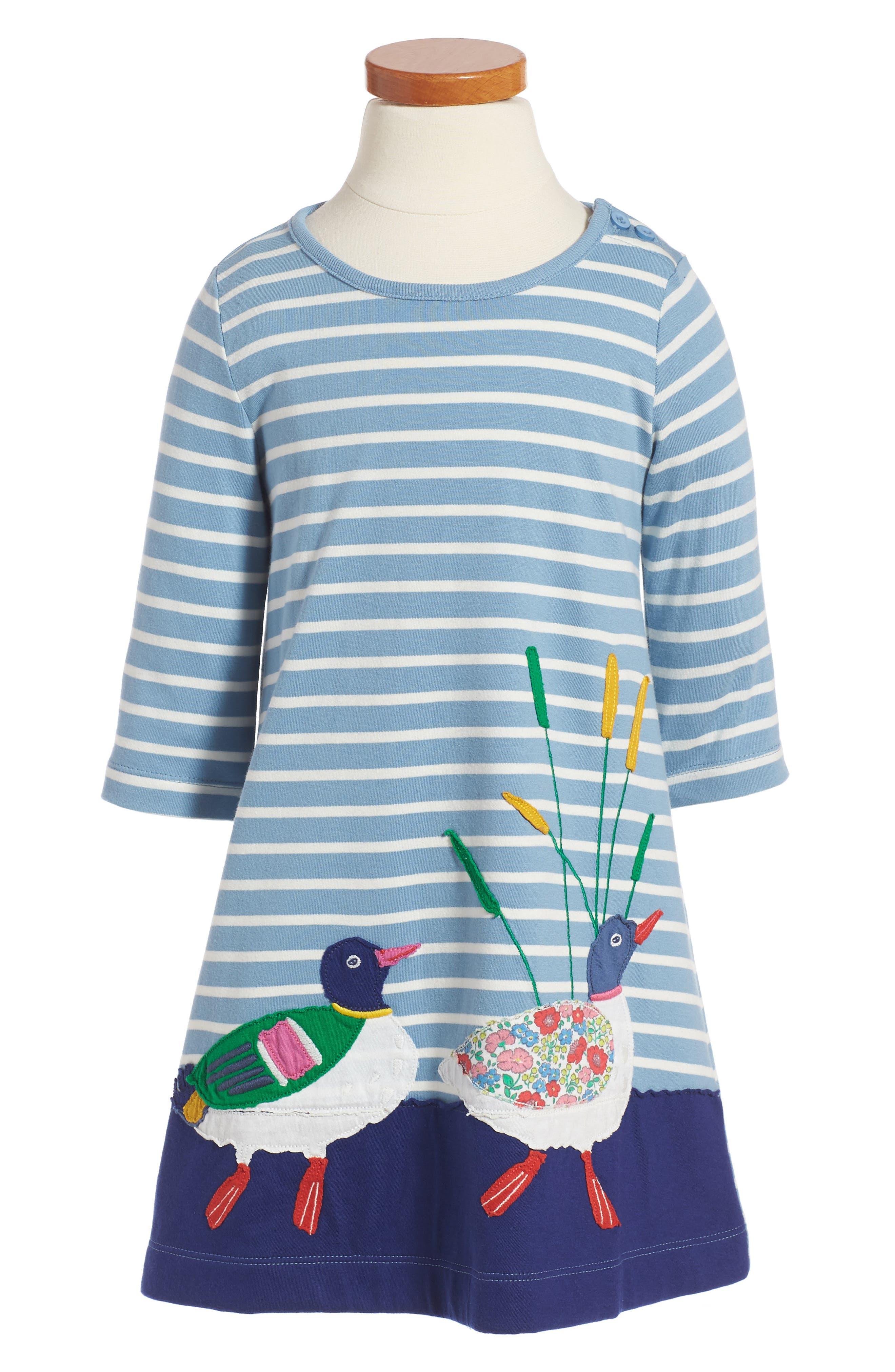 Mini Boden Woodland Friends Dress (Toddler Girls, Little Girls & Big Girls)