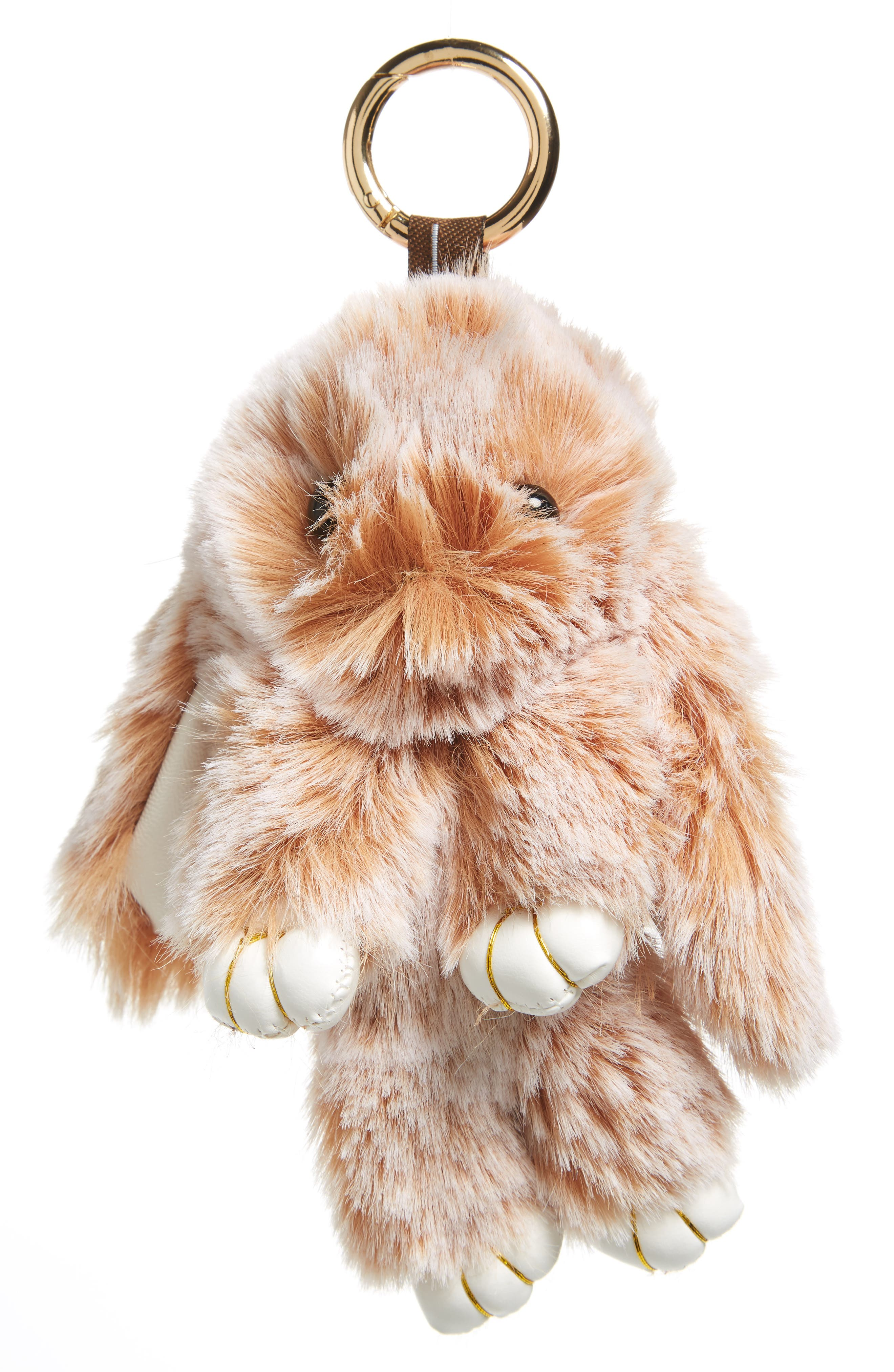Cara Faux Fur Bunny Rabbit Key Chain